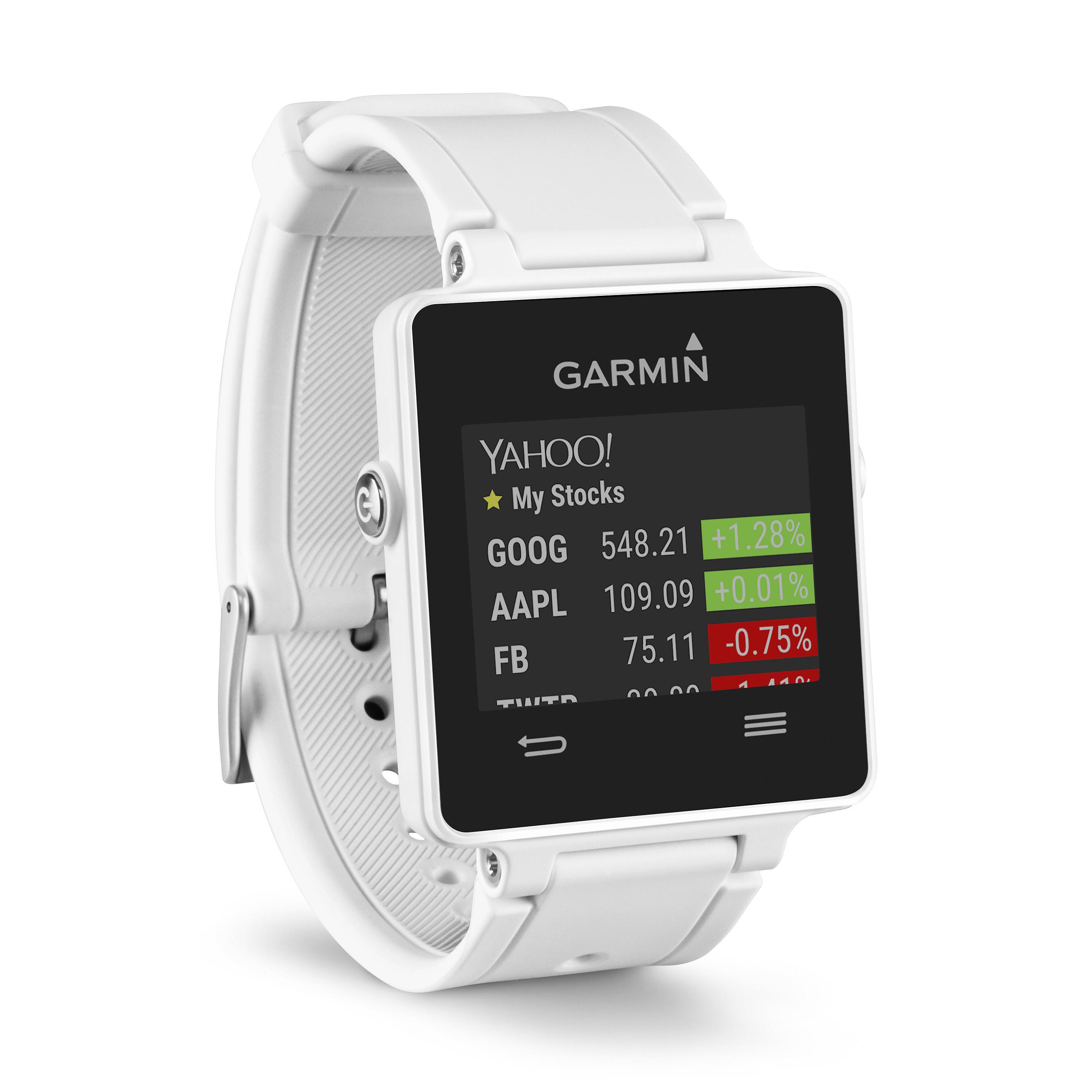 Garmin Vivoactive White Bundle with HRM