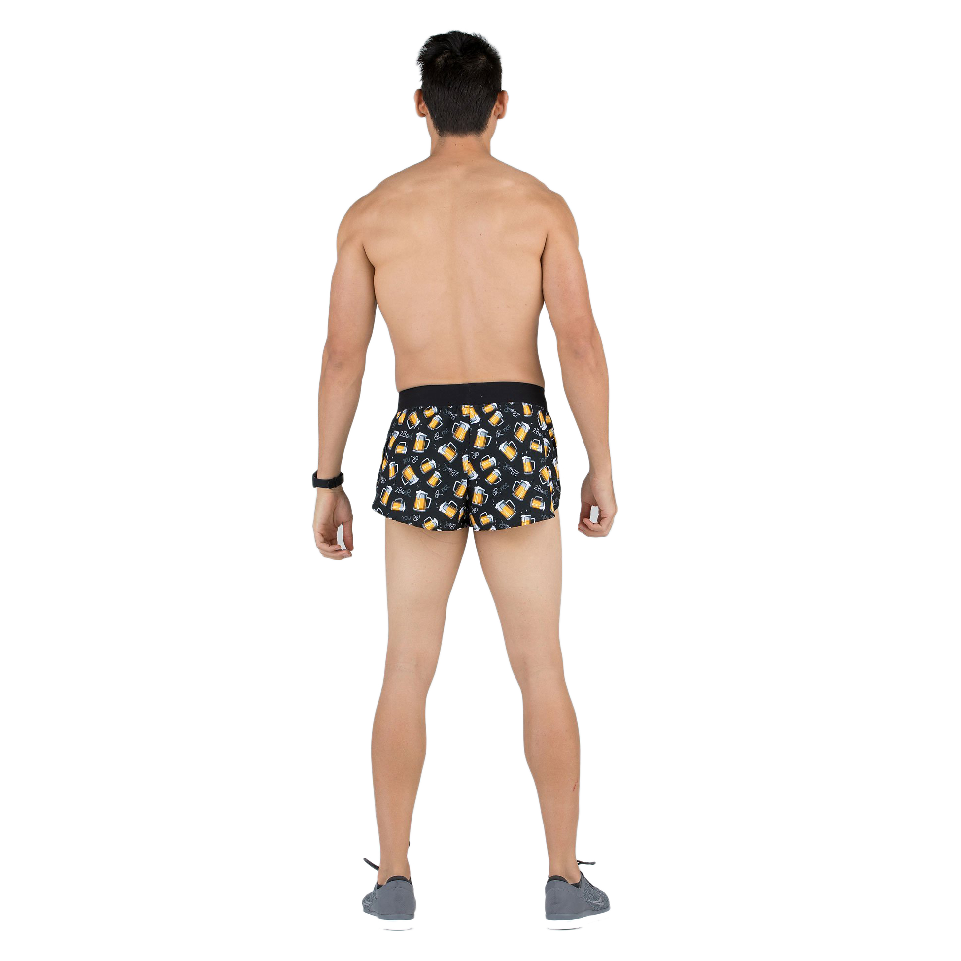 "BOA Men/'s Stretch 1/"" Comfort Elite Split Run Short"
