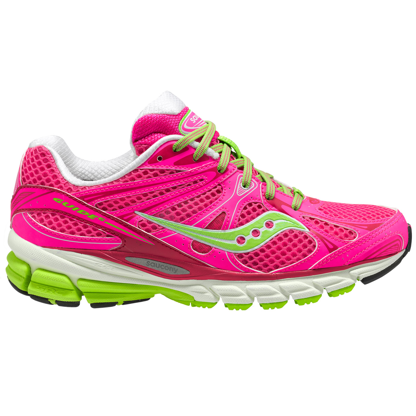 Women's Saucony Progrid Guide 6 ViZiProPink-Green