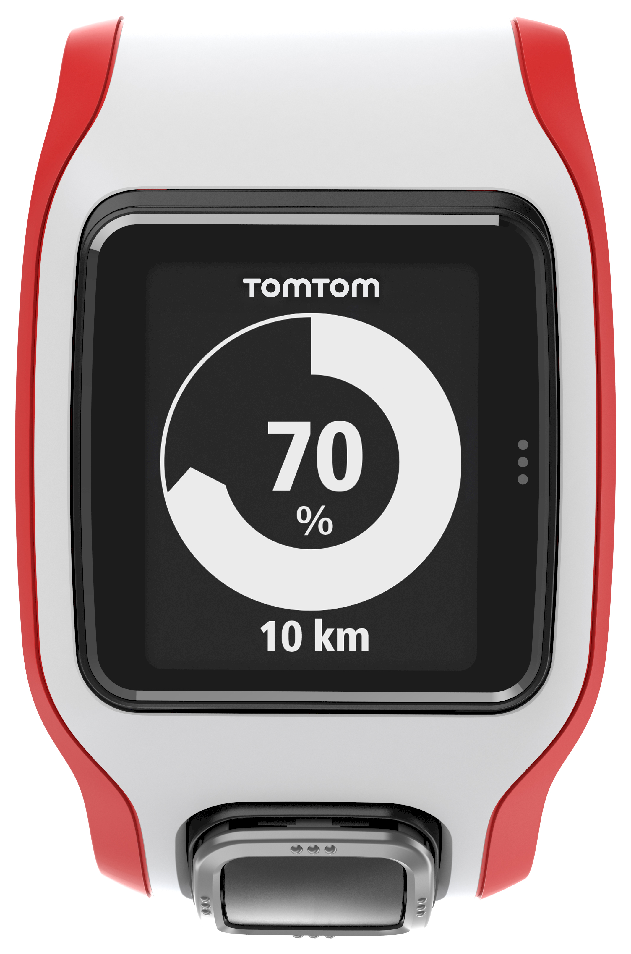 TomTom Runner Cardio Fitness Watch White Red With Extra Large Display