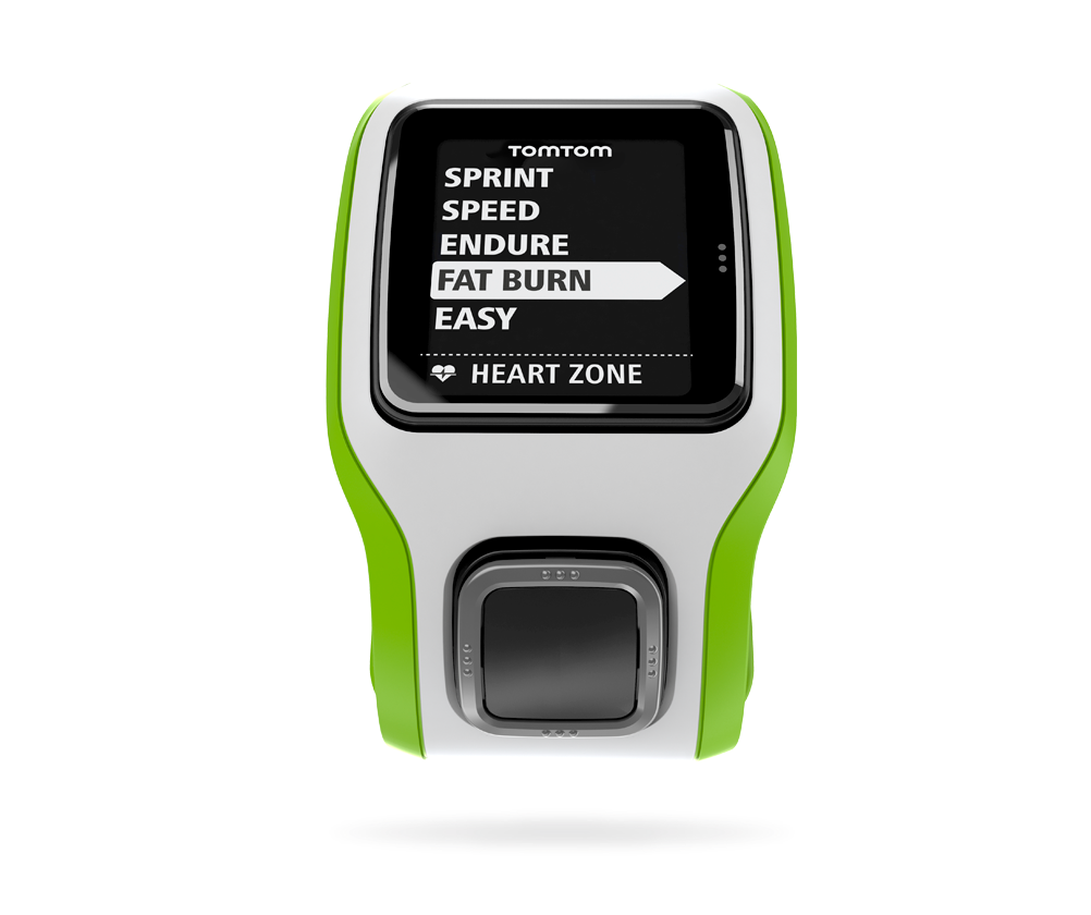 TomTom Runner Cardio Green-White with Extra Large Face & Metric Display