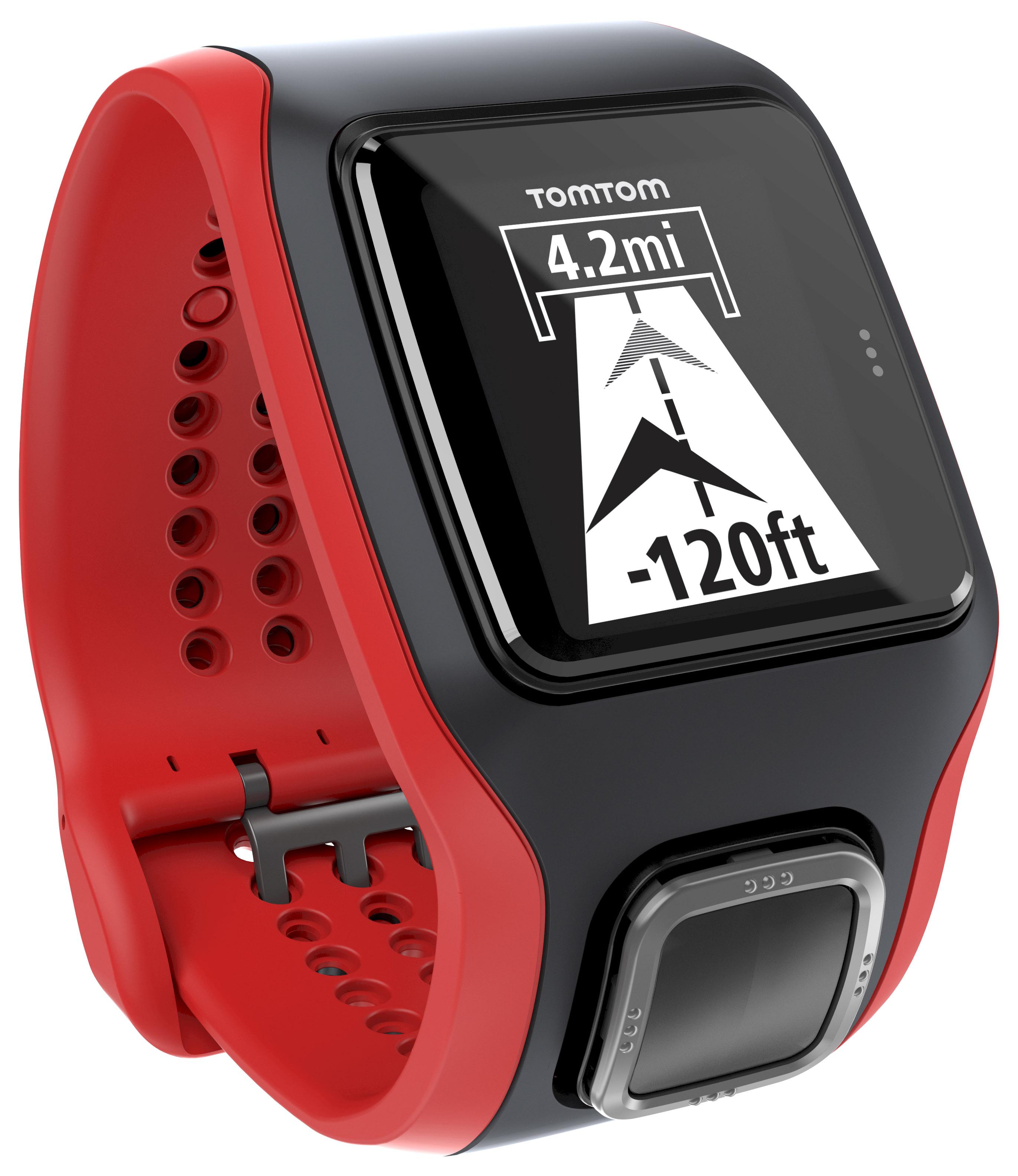 TomTom Multi Sport Cardio - Black Red W/ Cycle