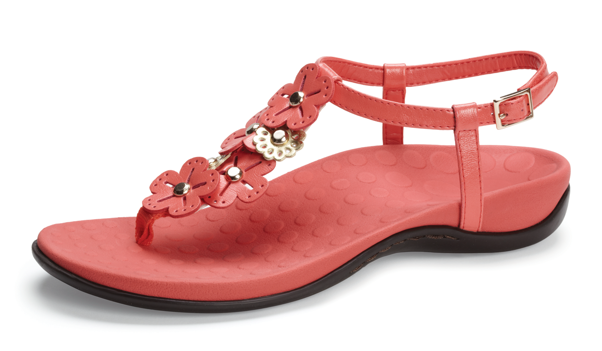 Orthaheel Julie Slide With Strap Coral Size 6 Online Discount