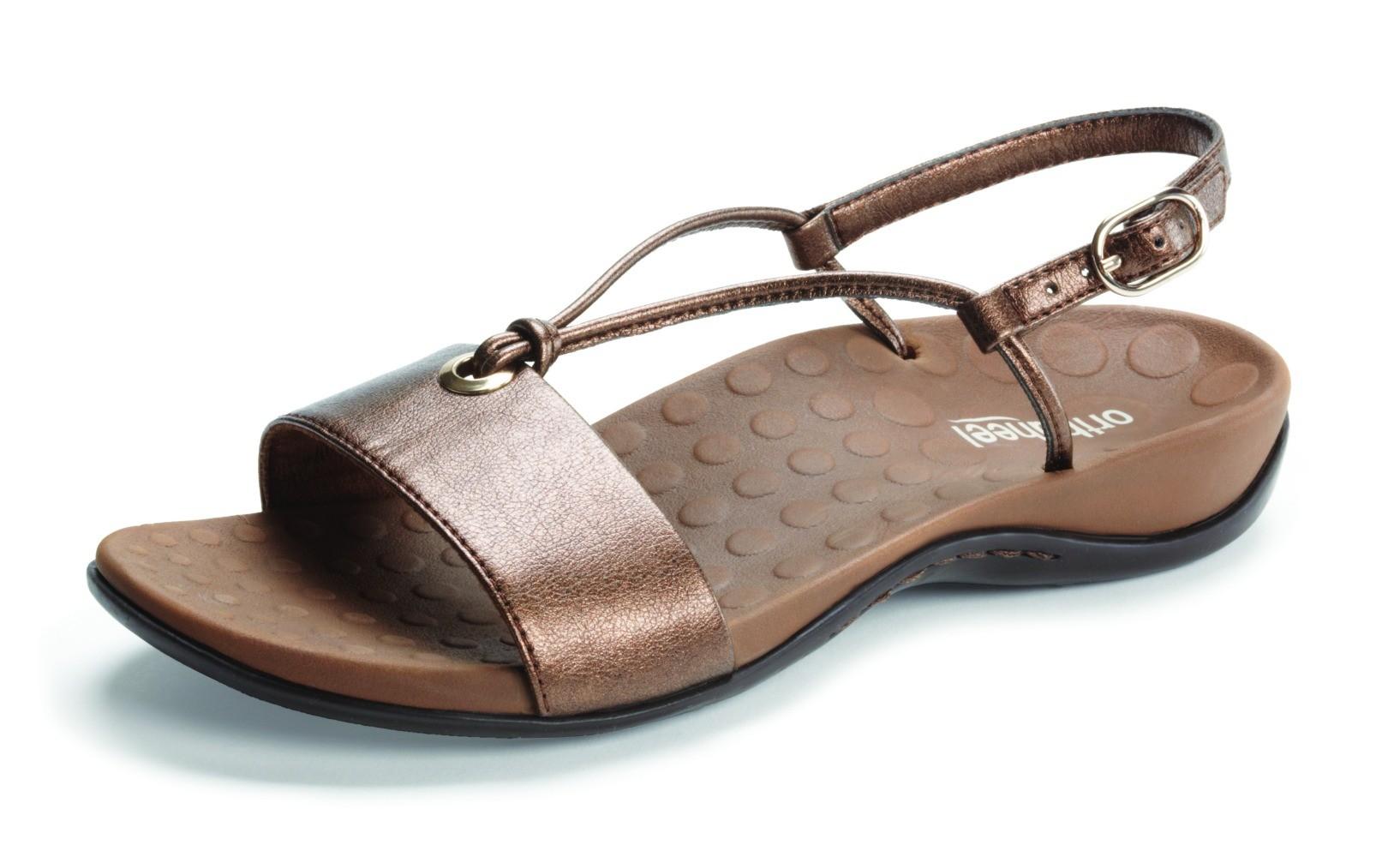 Orthaheel Mia Slingback Sandal Bronze Size 6 Online Discount
