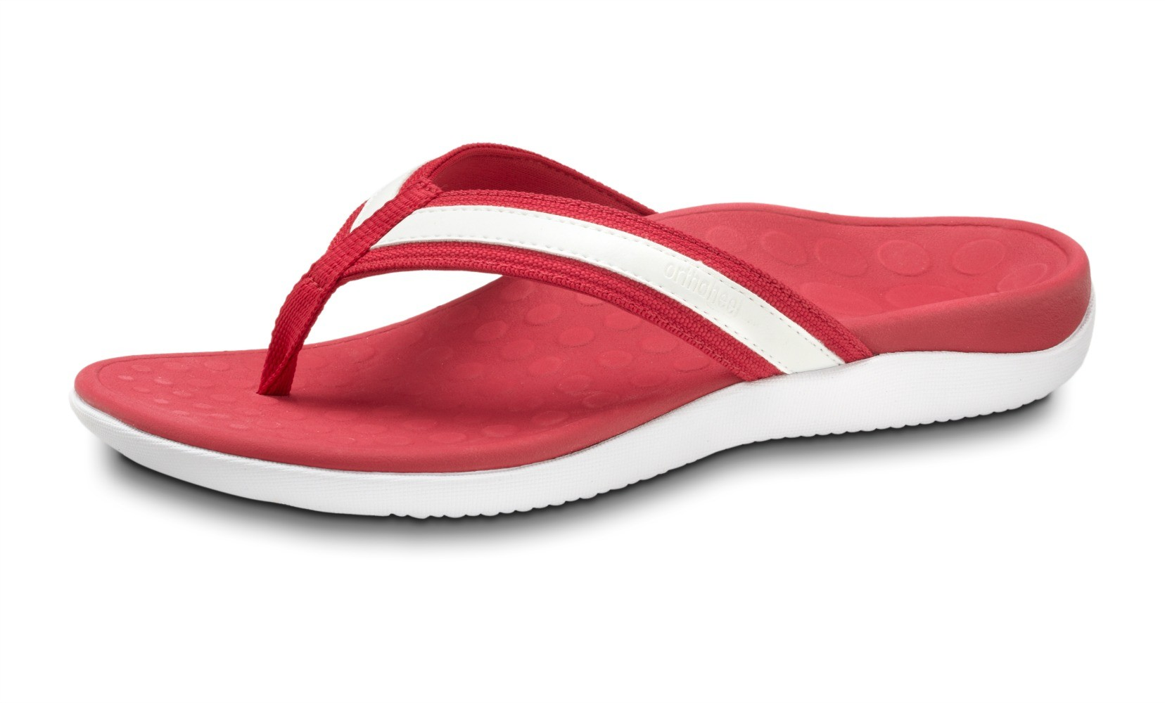 Orthaheel Tide Flip Flop Berry And White Online Discount