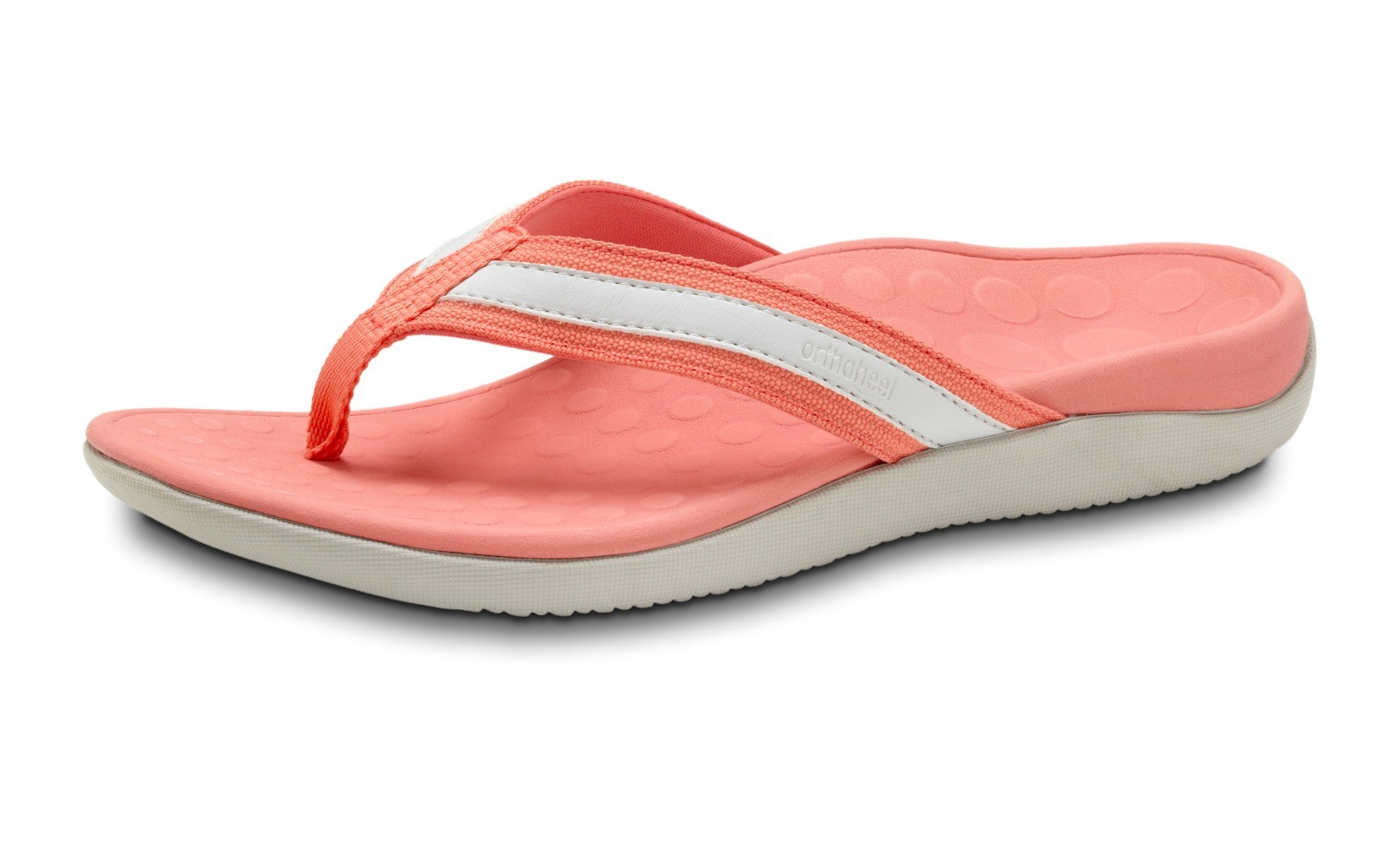 Orthaheel Tide Flip Flop Salmon And Grey Size 9 Online Discount
