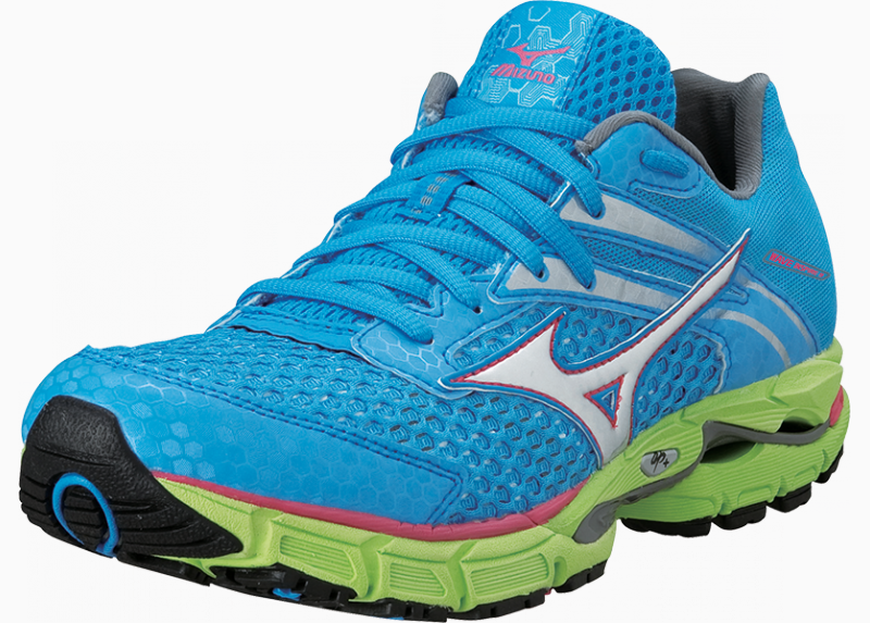 Mizuno Women's Wave Inspire 9 Malibu Blue-Silver-Rouge Red