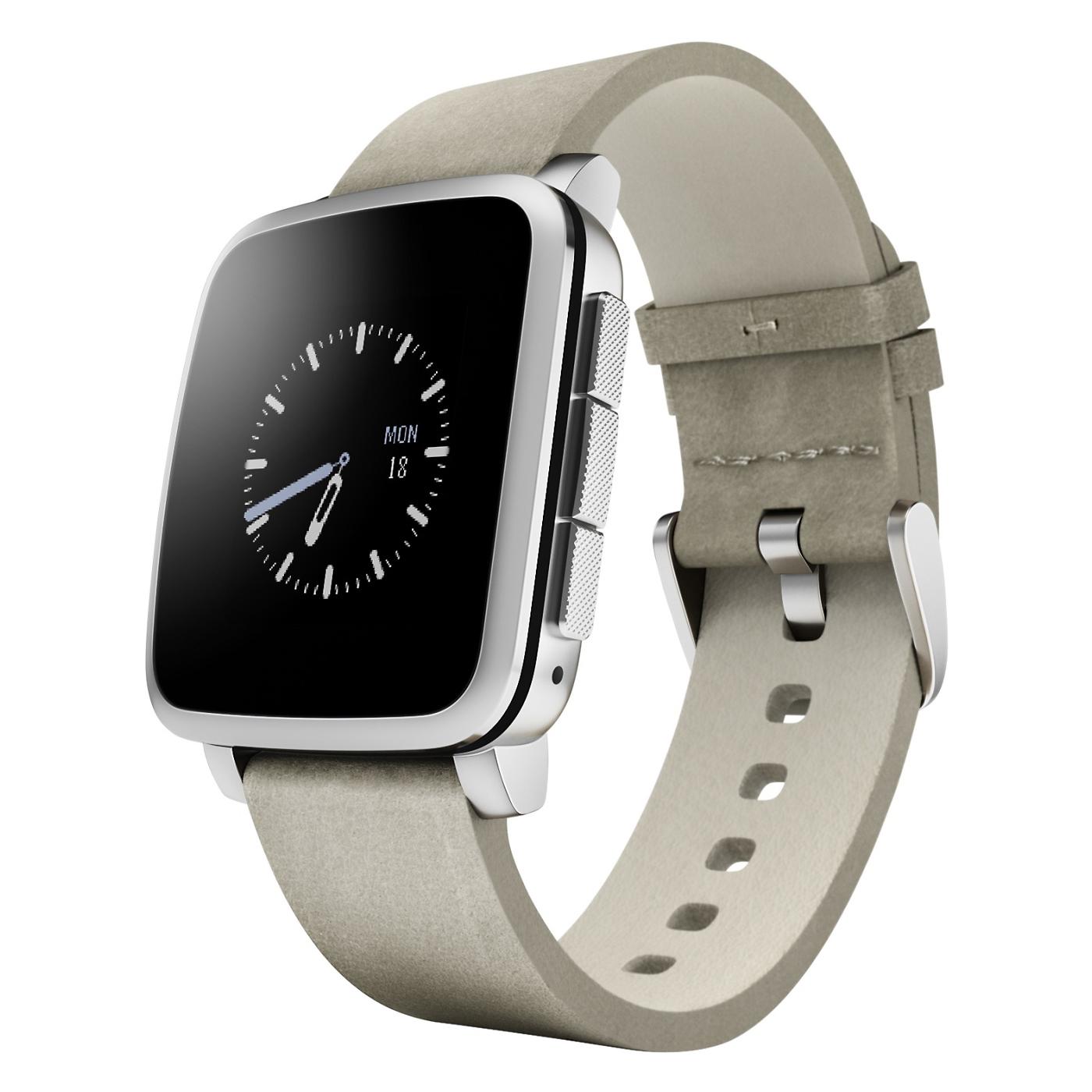 Pebble Time Steel Smartwatch Silver