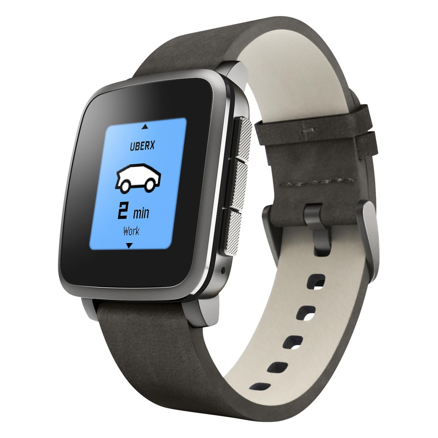Pebble Time Steel Smartwatch Black