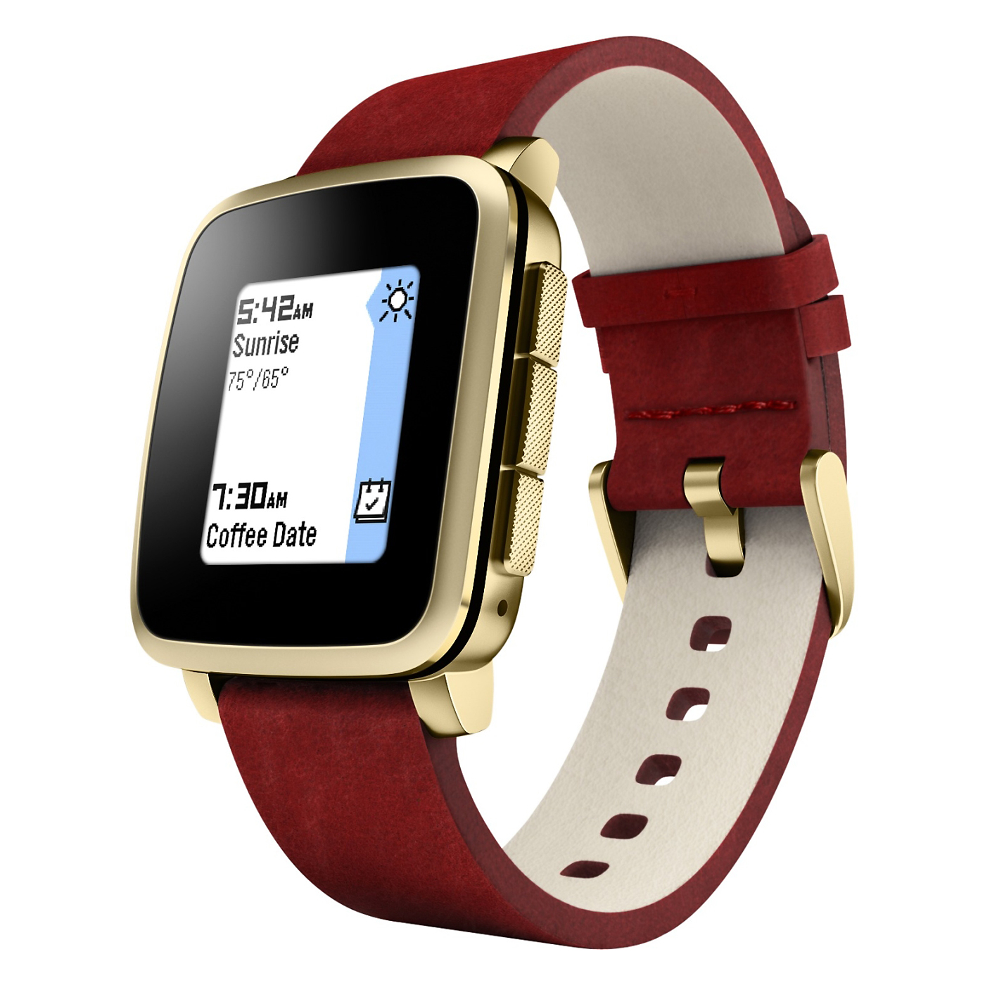 Pebble Time Steel Smartwatch Gold