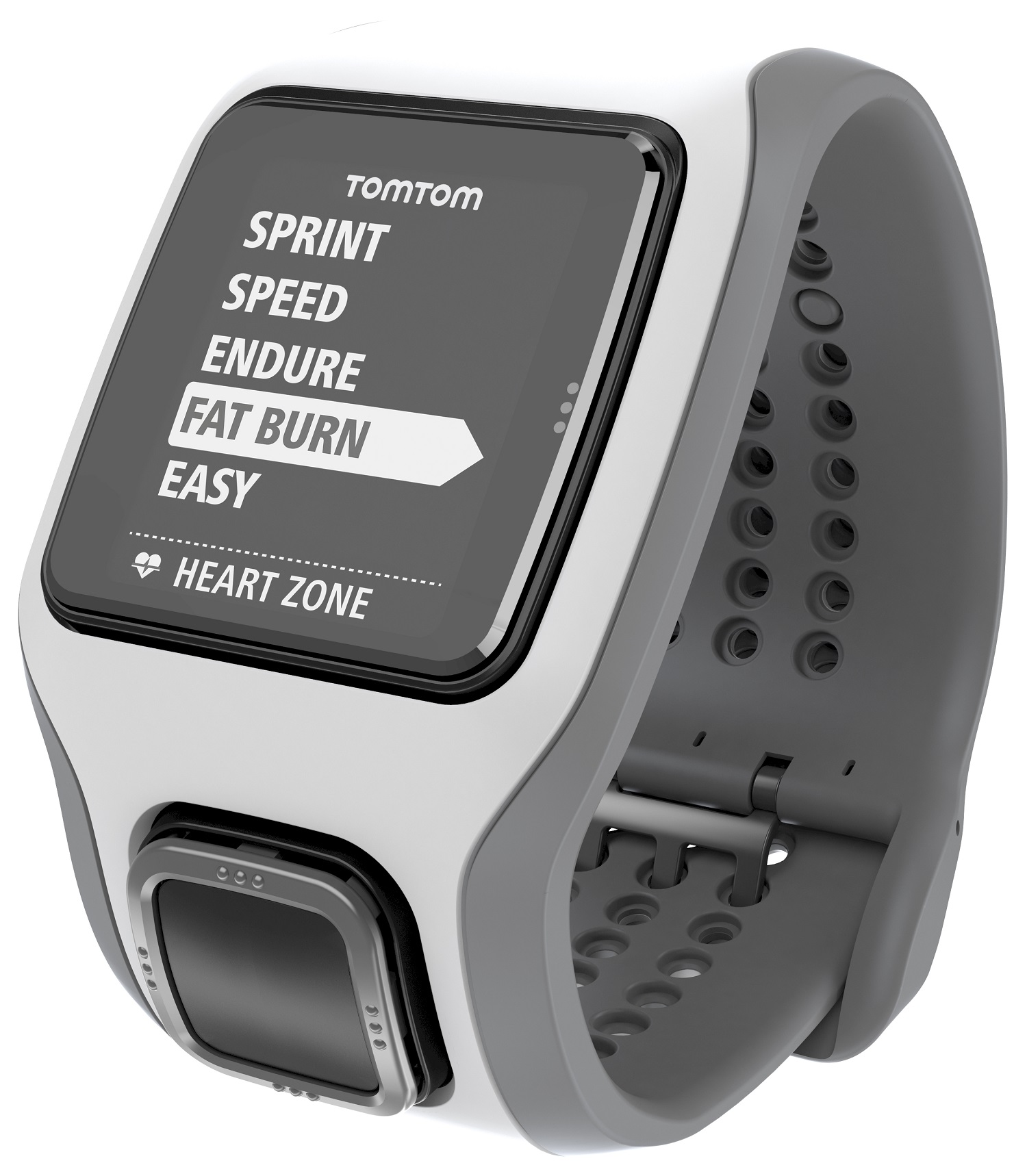 TomTom Runner Cardio GPS Watch White/Light Grey With Extra Large Display