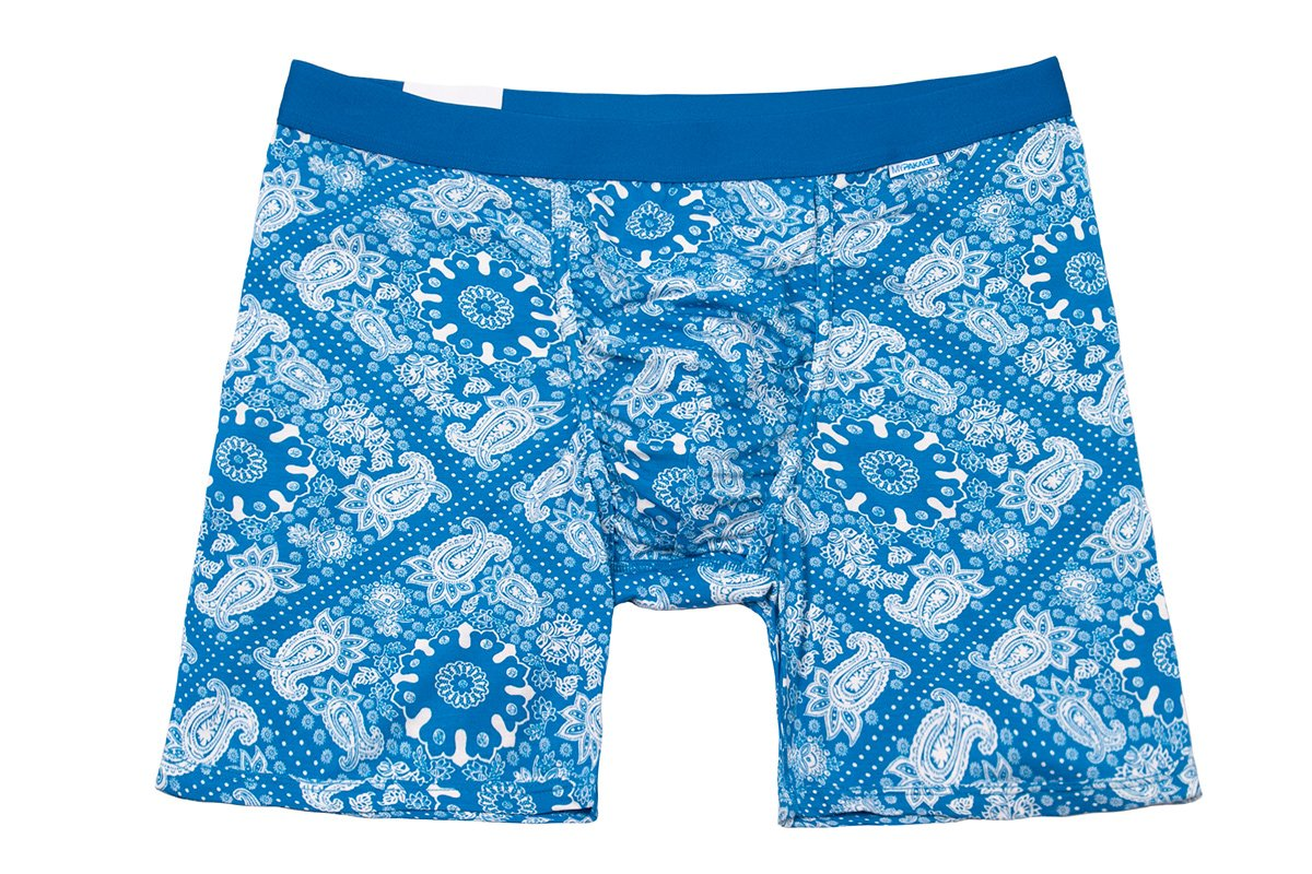 MyPakage Weekday Boxer Brief Blue Paisley-Blue Size X-Large