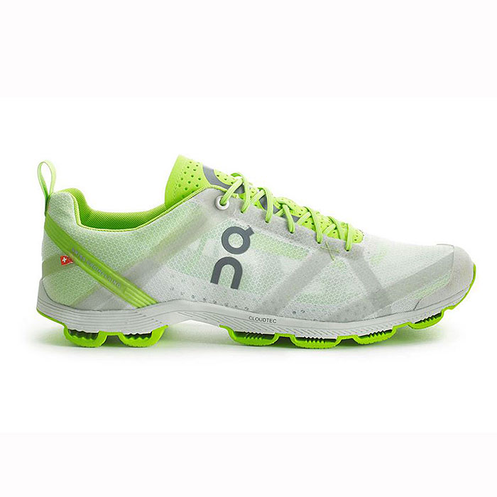 on running athletic shoes women 39 s cloudracer silver lime size 10 ebay. Black Bedroom Furniture Sets. Home Design Ideas