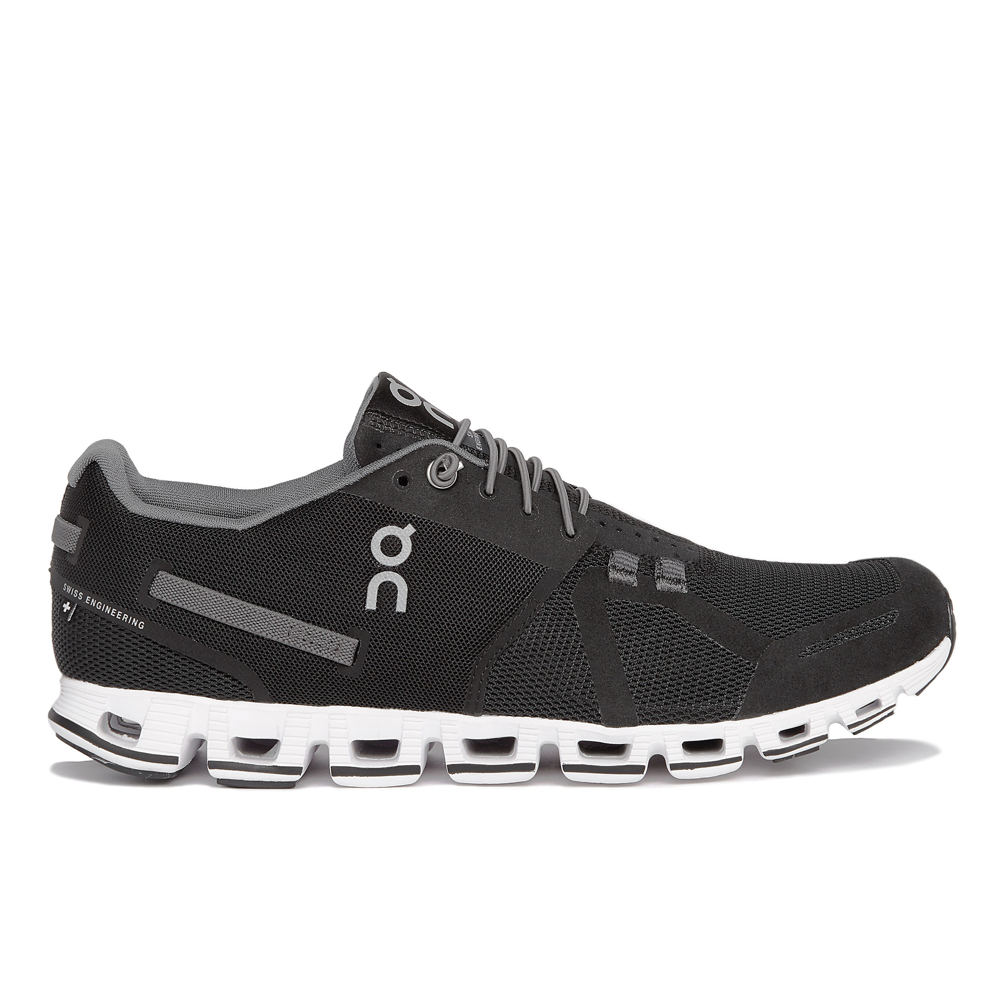 on running s the cloud athletic shoes black white
