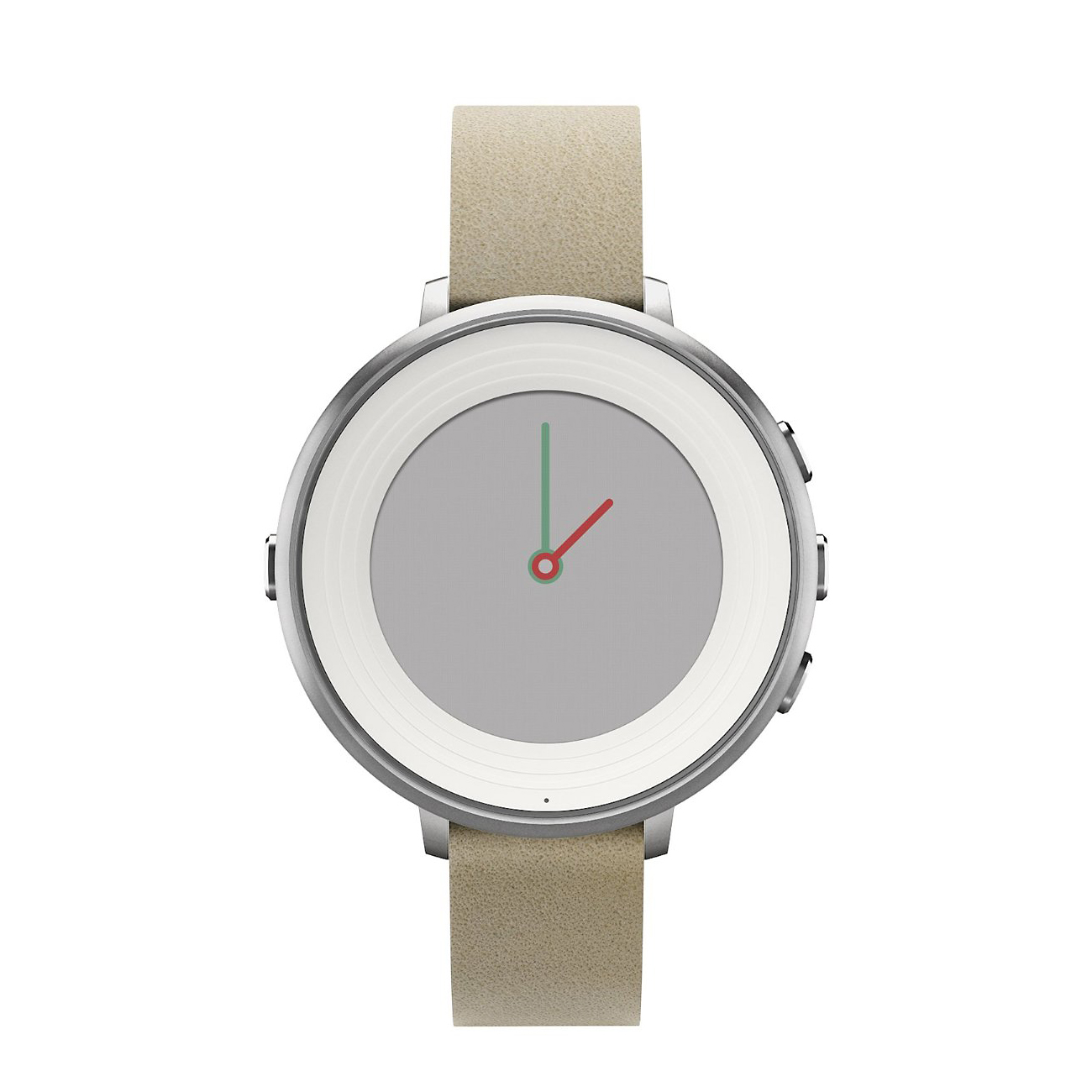 Pebble Time Round 14 Silver