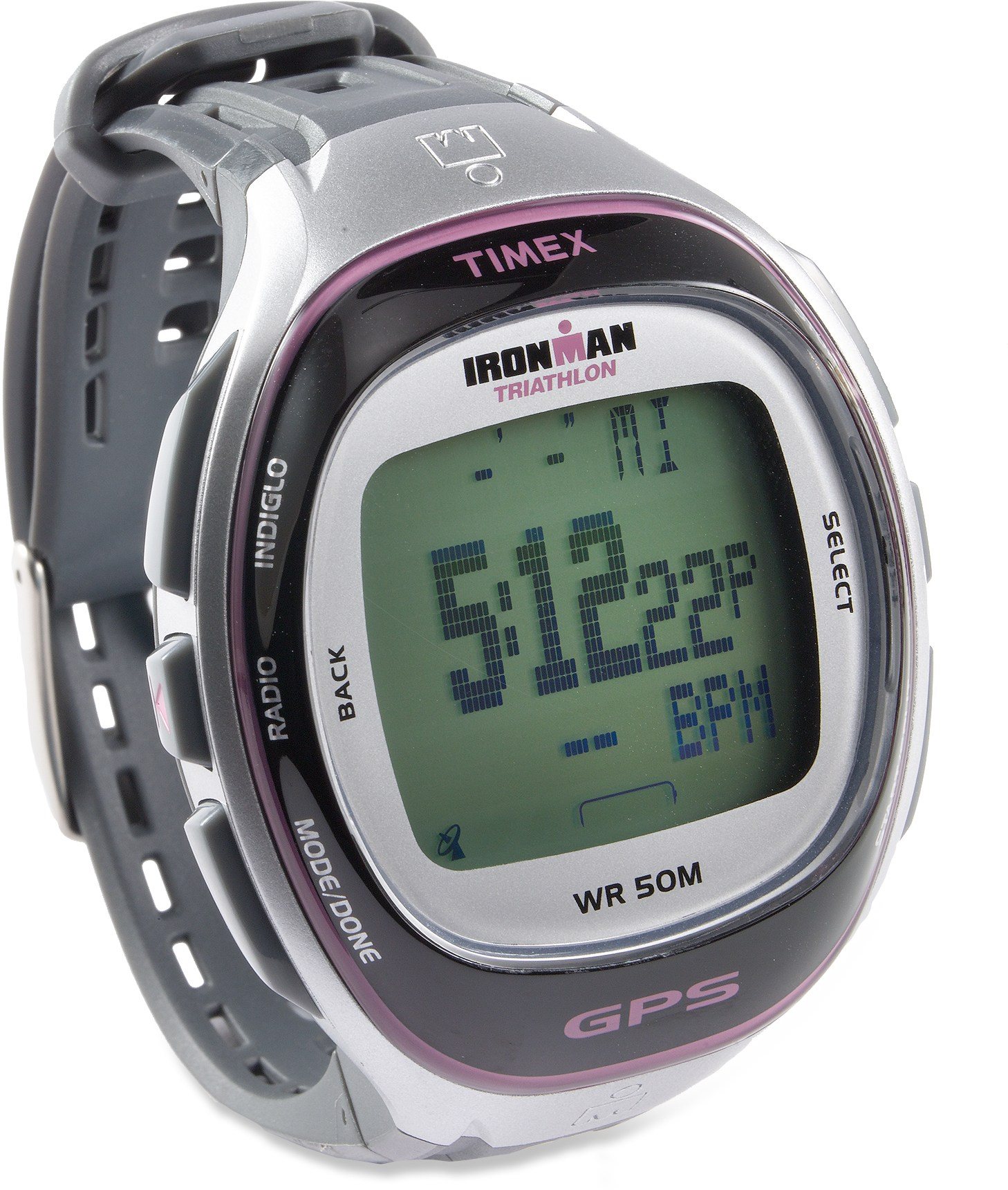 Timex Women's Ironman Run Trainer Watch Silver/Pink w/ GPS at Sears.com