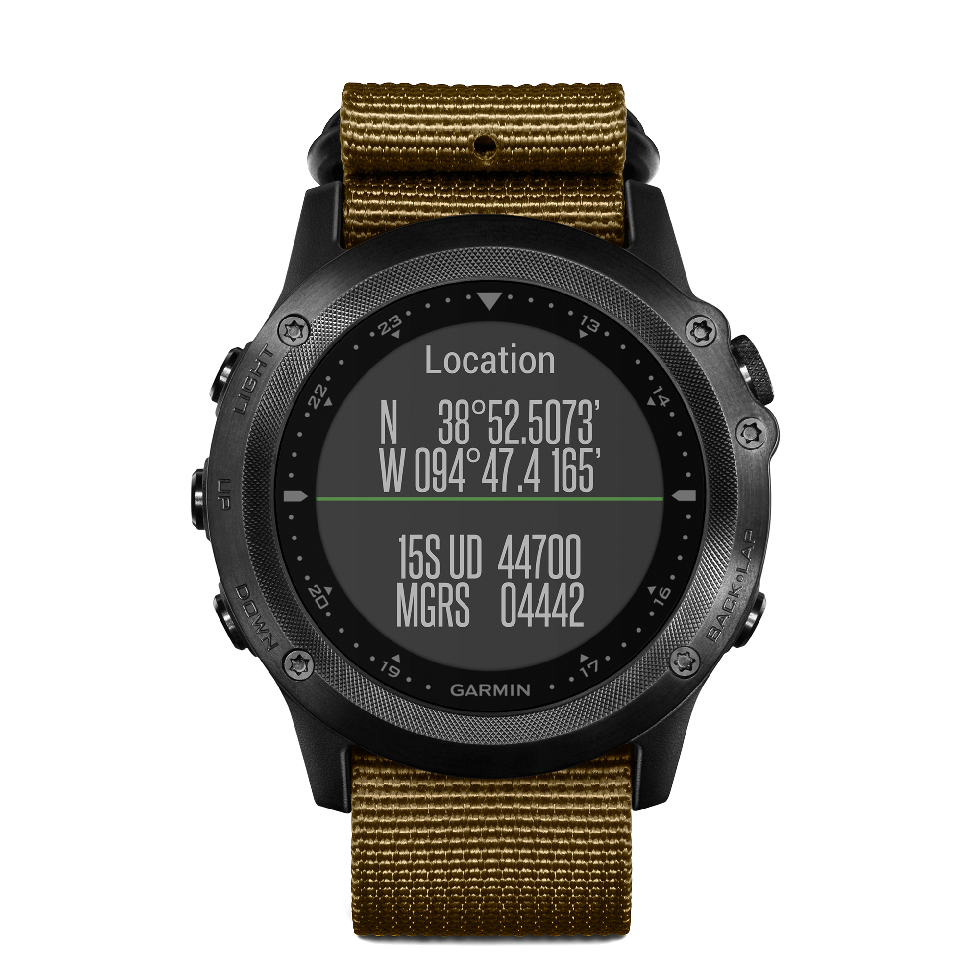 Garmin tactix Bravo GPS Multisport Watch Sapphire Black/Green Nylon Strap