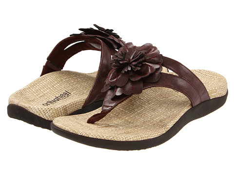 Orthaheel Talia Floral Accent Chocolate Size 10 Online Discount