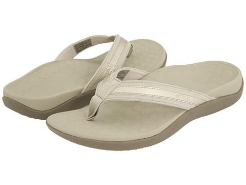 Orthaheel Tide Women's Orthotic Flip Flop Sandals Gold Metallic Size 10 Online Discount