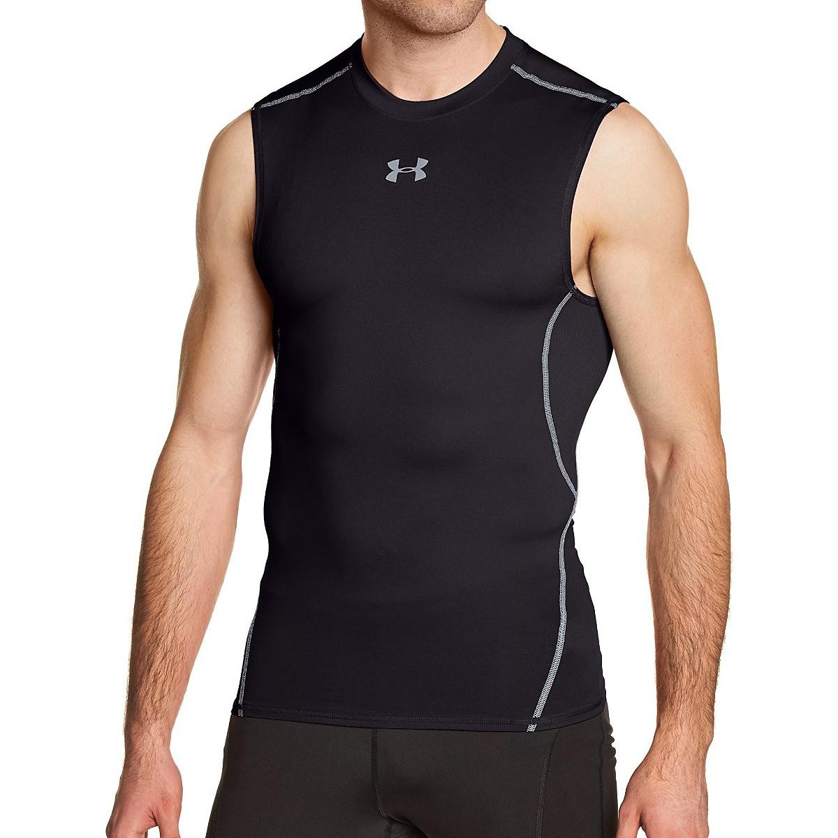 Under armour men 39 s hg armour sleeveless compression shirt for Under armour swim shirt