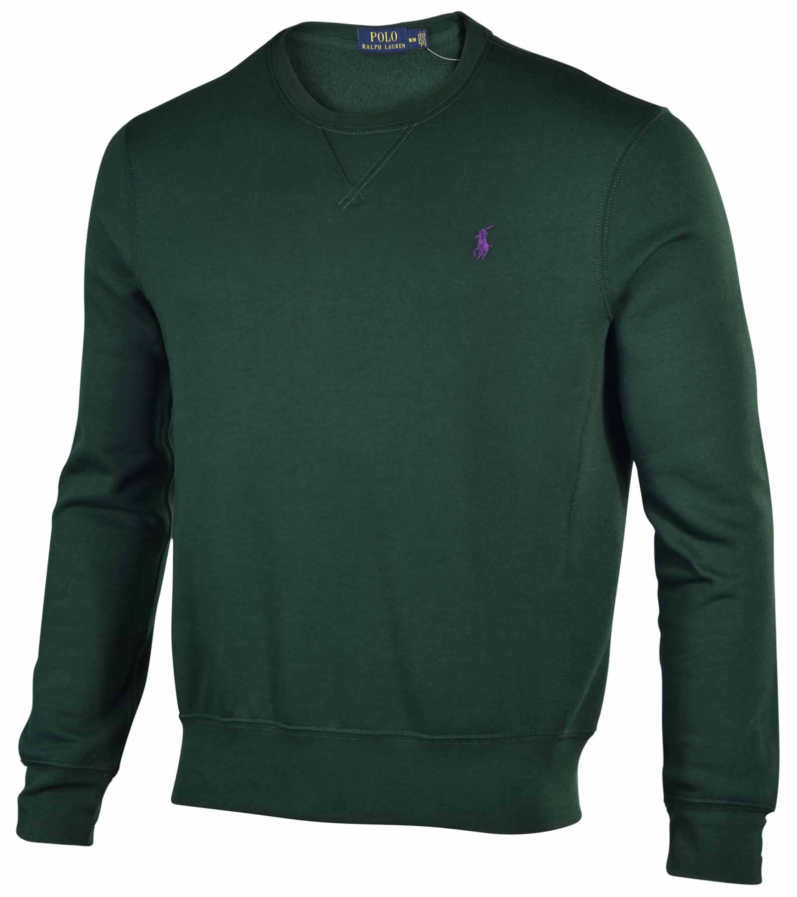 polo ralph lauren men 39 s fleece crewneck sweatshirt ebay. Black Bedroom Furniture Sets. Home Design Ideas