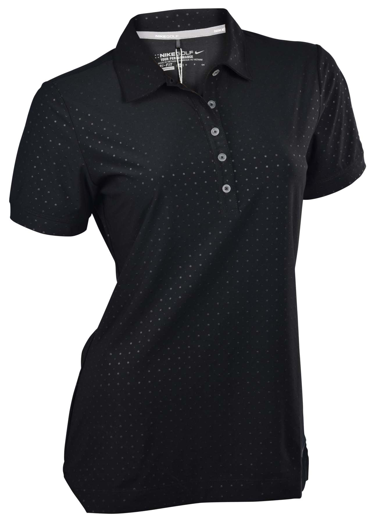 Nike women 39 s dri fit embossed golf polo shirt ebay for Women s dri fit golf shirts