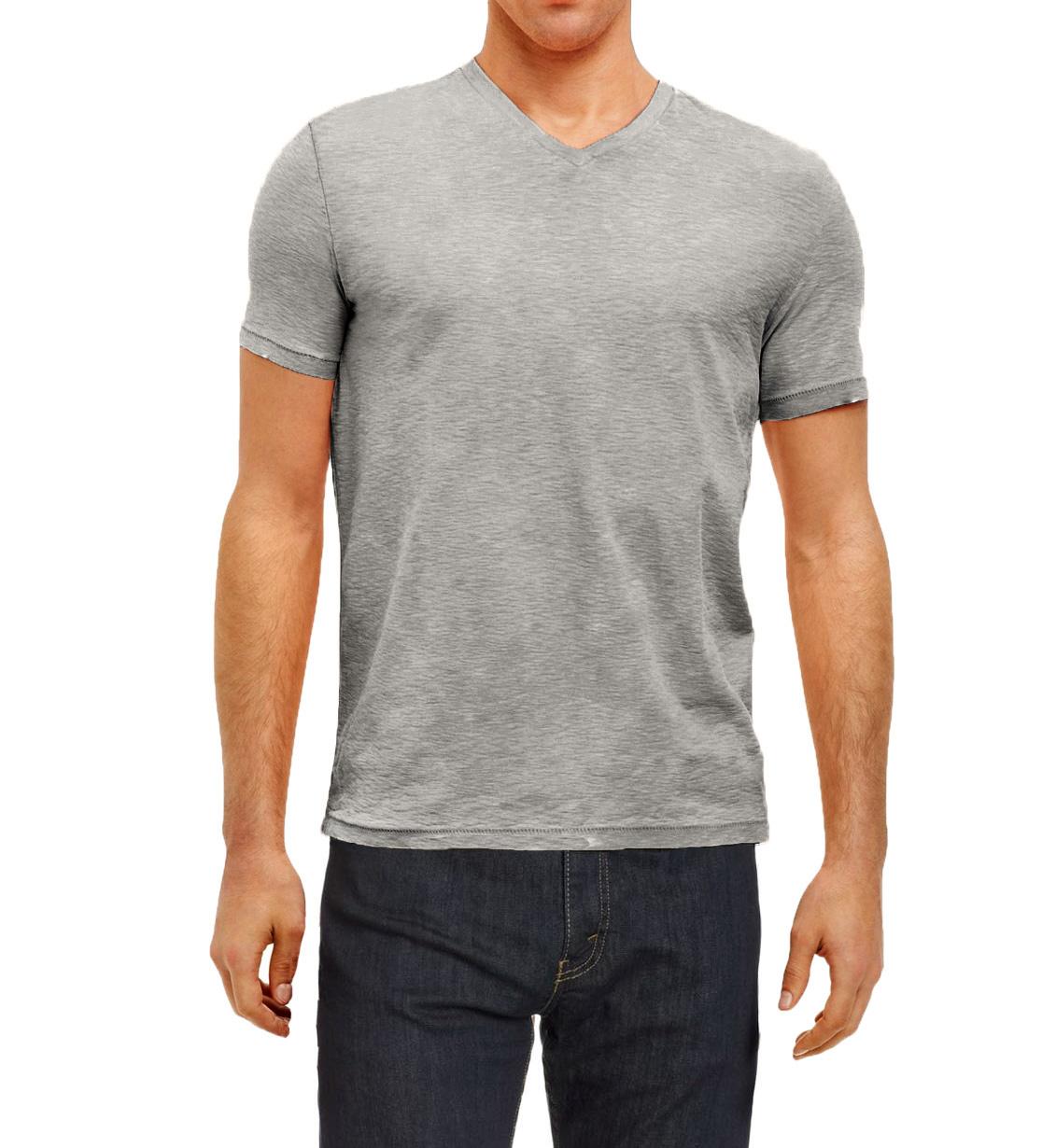 Kenneth cole reaction men 39 s slub knit v neck t shirt ebay for What is a slub shirt