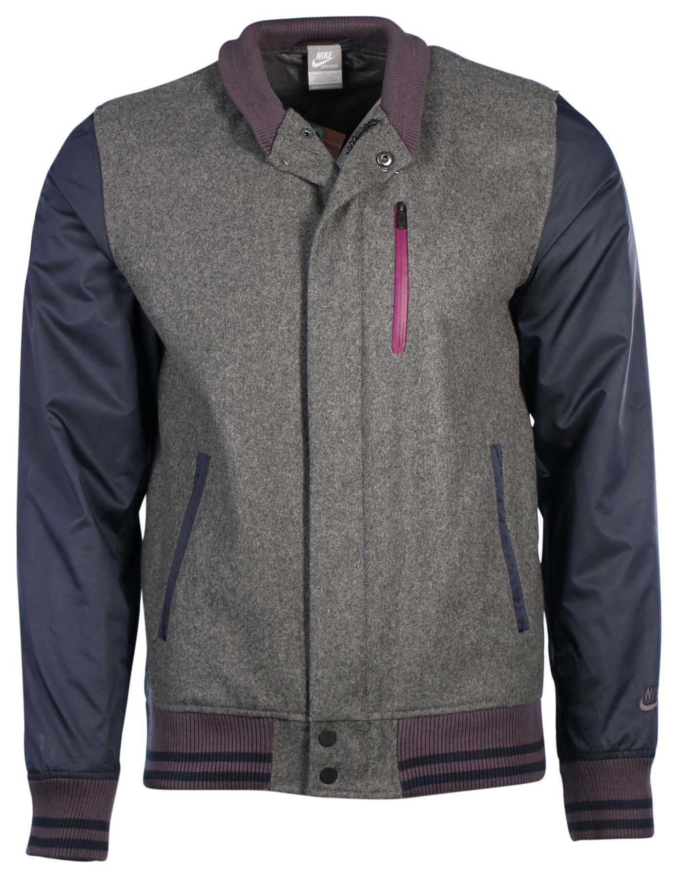 Nike jacket gray and black - Nike Men 039 S Destroyer Tech Wool Training