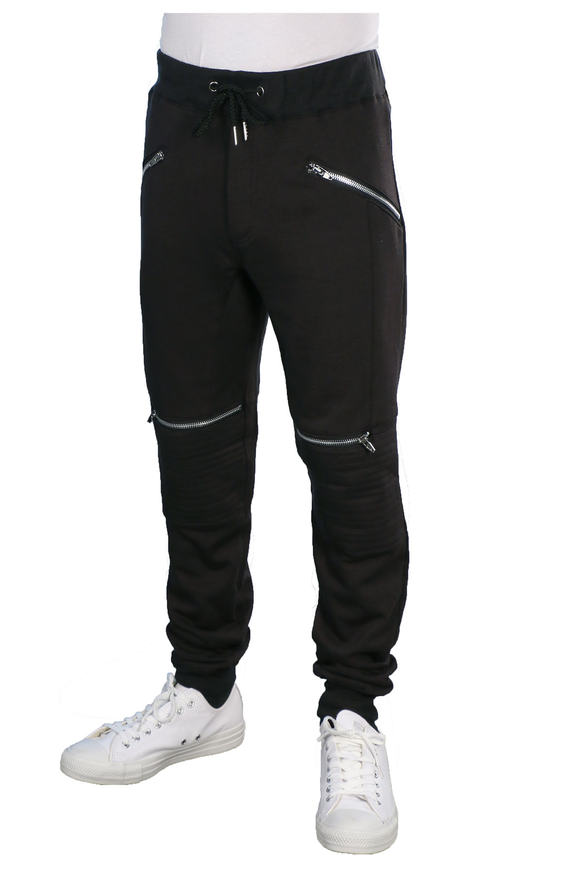 Souped-Up Sweatpants are a simpler version, styled more for casual wear. Just two pockets in front, one zip pocket in back, in a hearty oz. cotton knit that's soft and comfortable. Elastic waist with web belt and buckle keeps them from sagging on you.