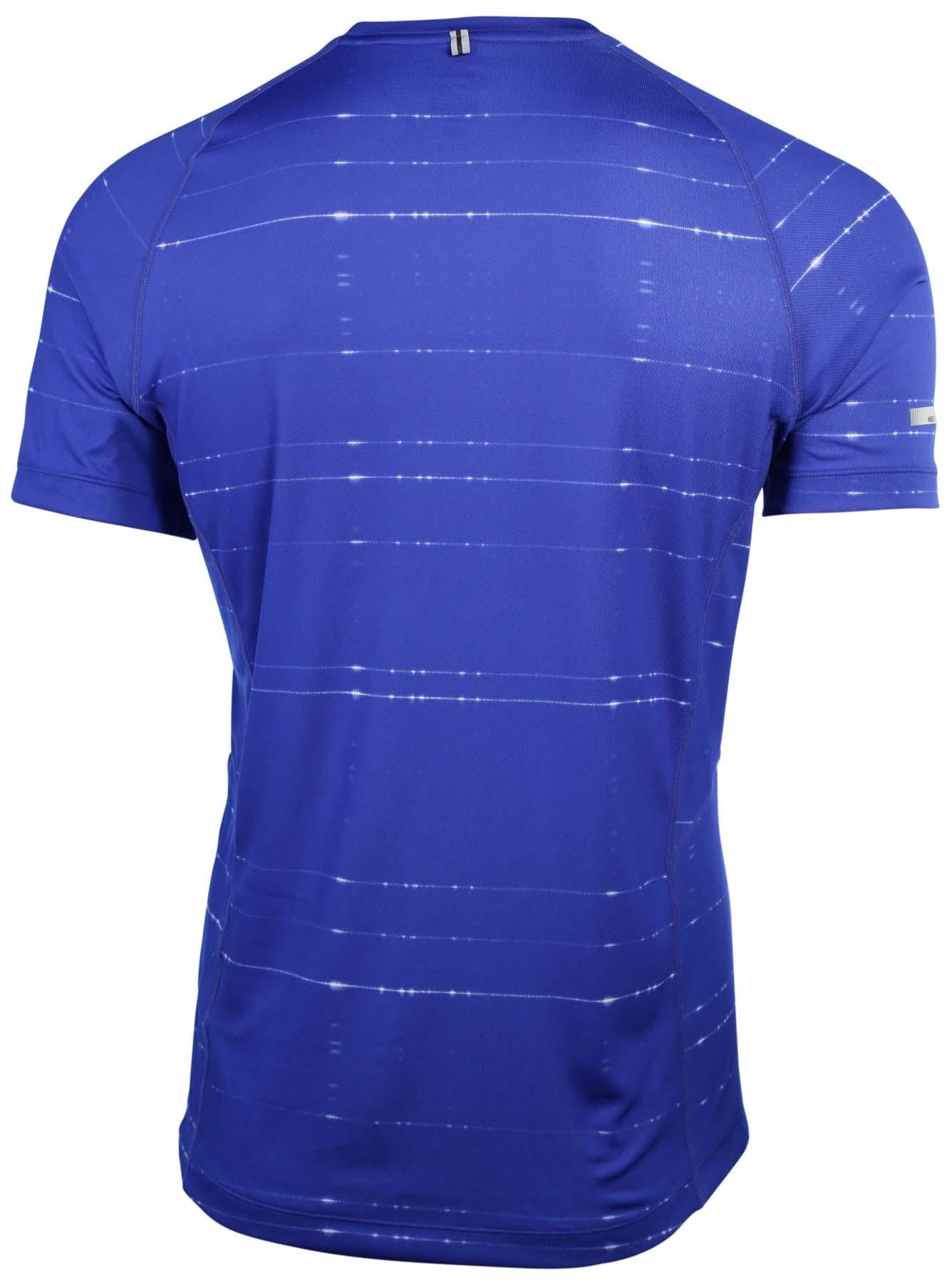 Nike Men 39 S Dri Fit Printed Miler Running Shirt Ebay