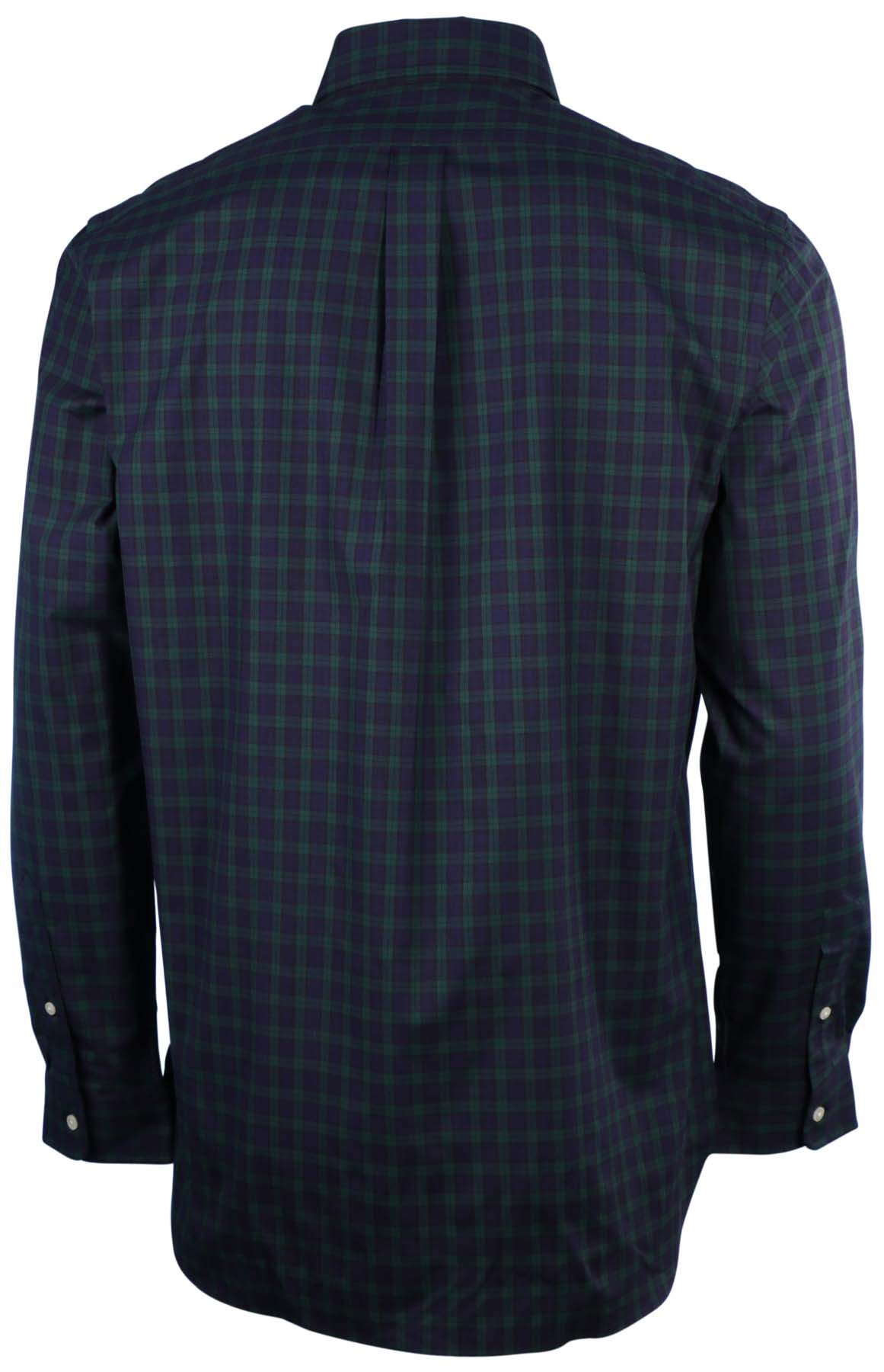 Polo ralph lauren men 39 s plaid tartan button down shirt ebay for Men s down shirt