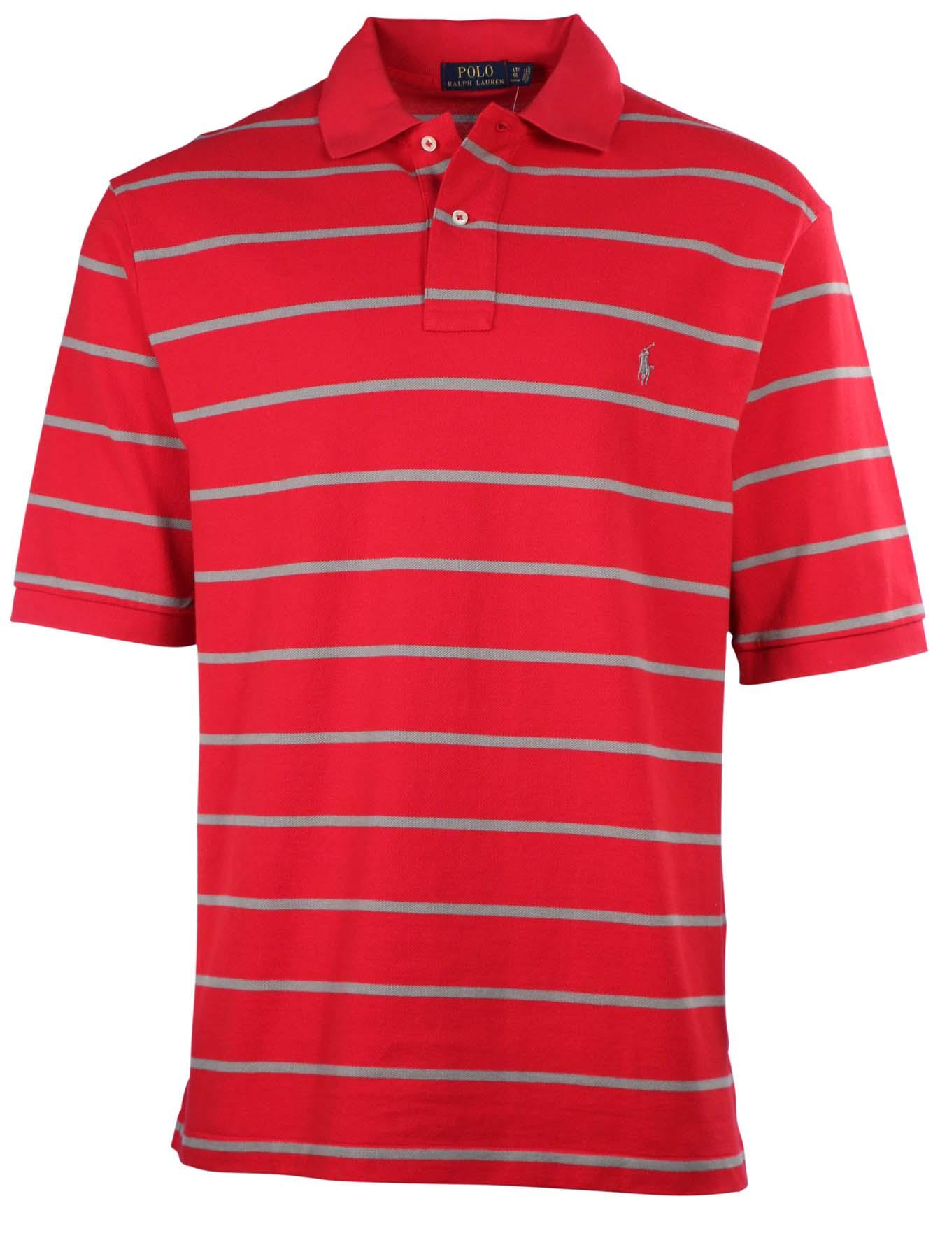 Polo ralph lauren men 39 s big tall mesh stripe polo shirt ebay for Big size polo shirts