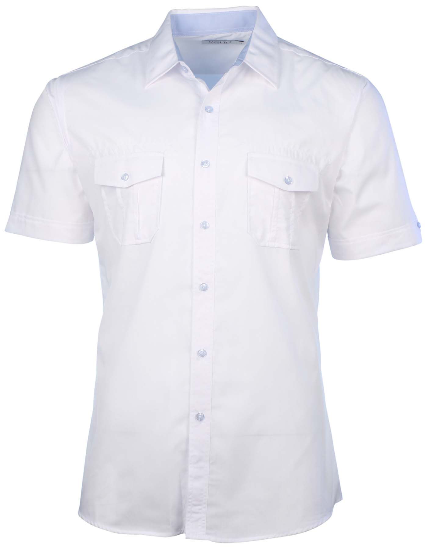 Mojito collection men 39 s 2 pocket short sleeve button down for Mens short sleeve button down shirts