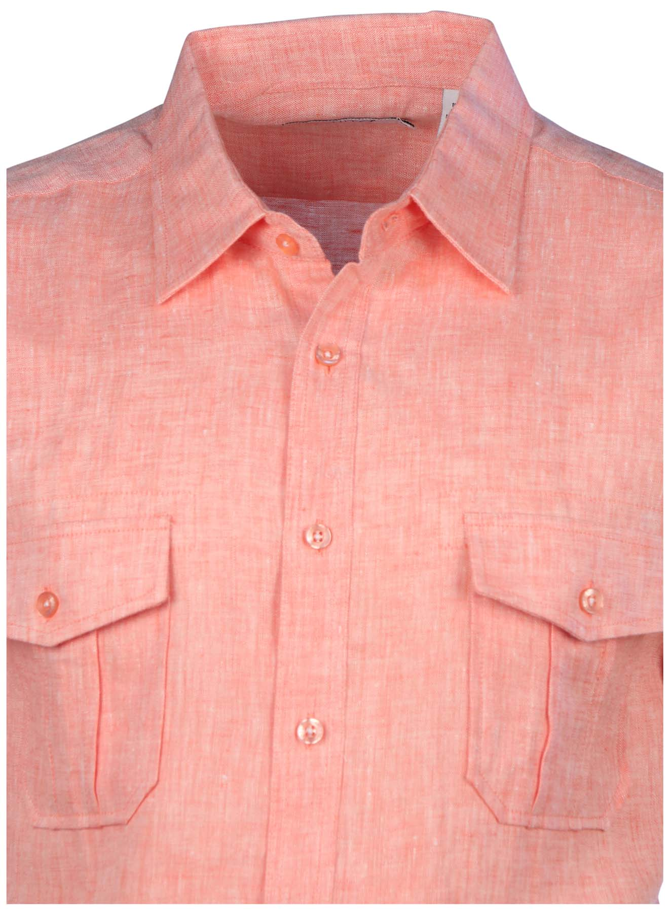 Mojito Collection Men's Linen 2-Pocket Short Sleeve Button ...