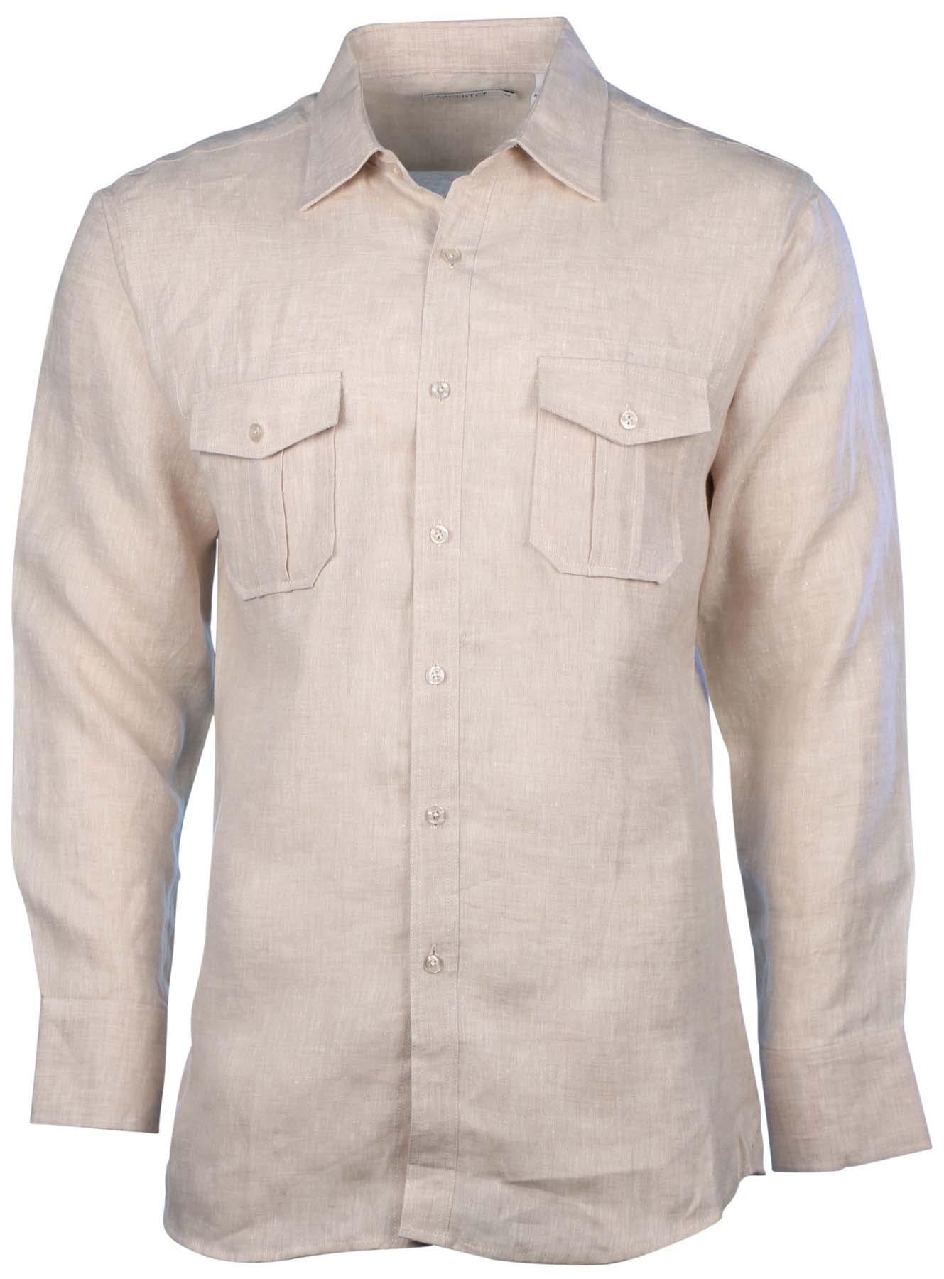 Mojito Collection Men 39 S Linen 2 Pocket Long Sleeve Button