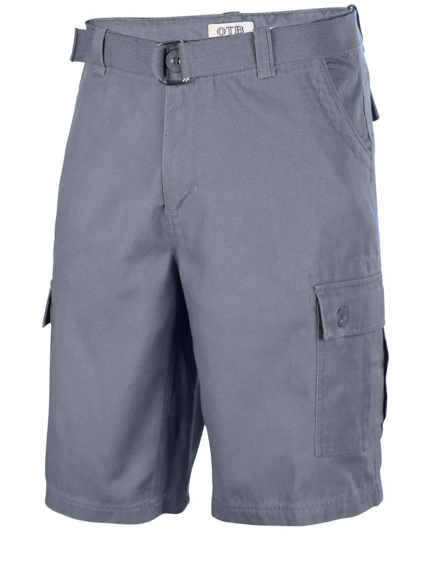 One Tough Brand Men's Cotton Twill Belted Cargo Shorts | eBay