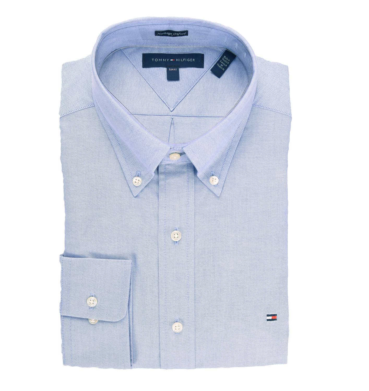tommy hilfiger slim fit heritage oxford dress shirt ebay