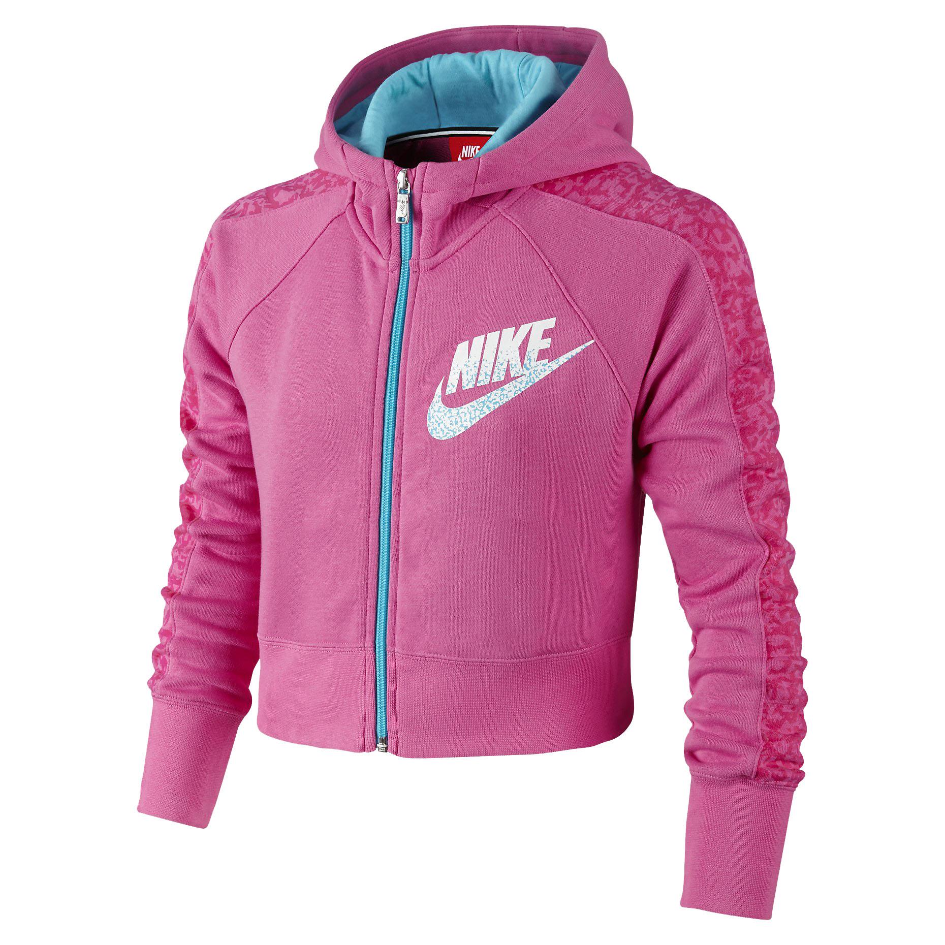 Nike Big Girls' (7-16) Seasonal Cropped Full Zip Hoodie | eBay