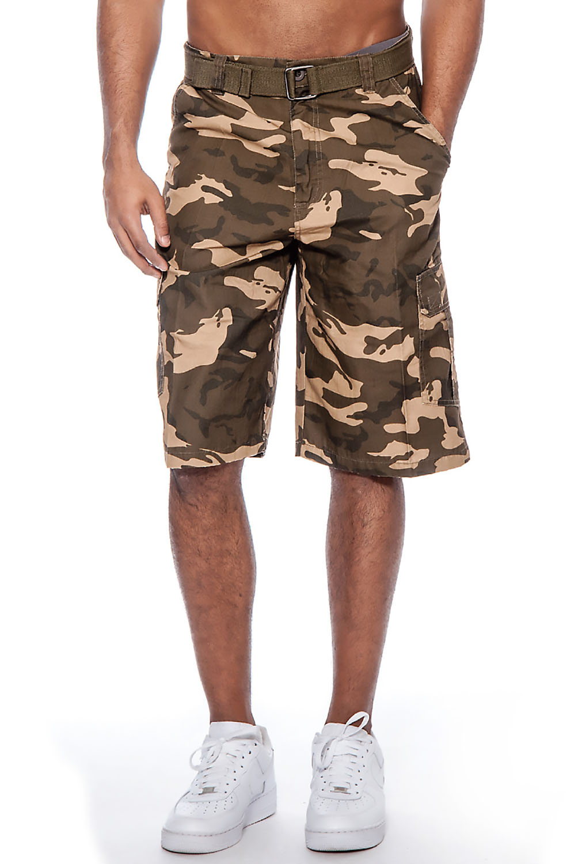 how to wear camo cargo shorts