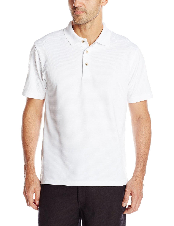 Cubavera men 39 s essential textured performance polo shirt for Men s performance polo shirts