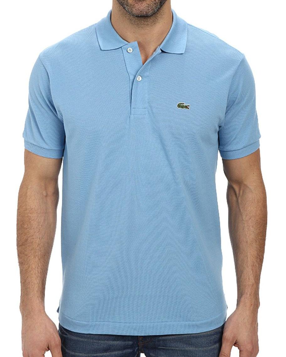 Lacoste men 39 s 2 button croc pique mesh polo shirt ebay for Lacoste size 4 polo shirt