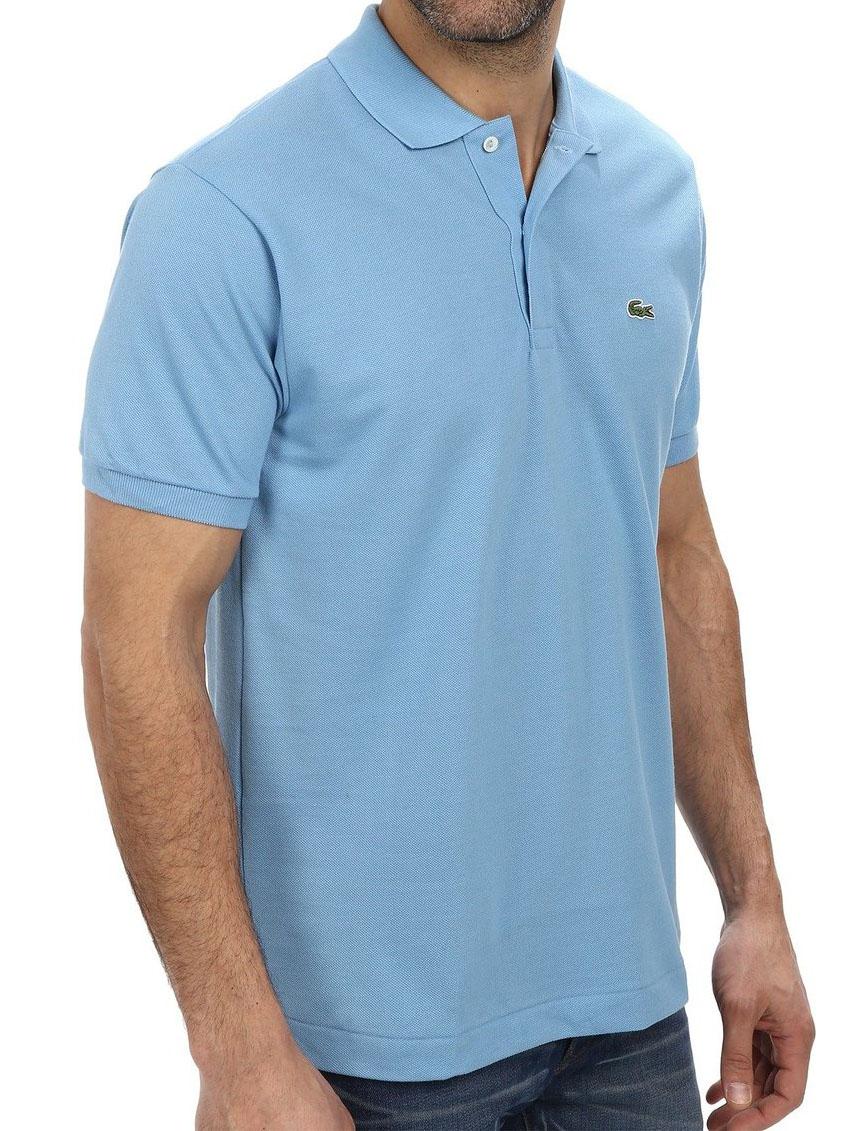 Lacoste men 39 s 2 button croc pique mesh polo shirt ebay for 3 button polo shirts