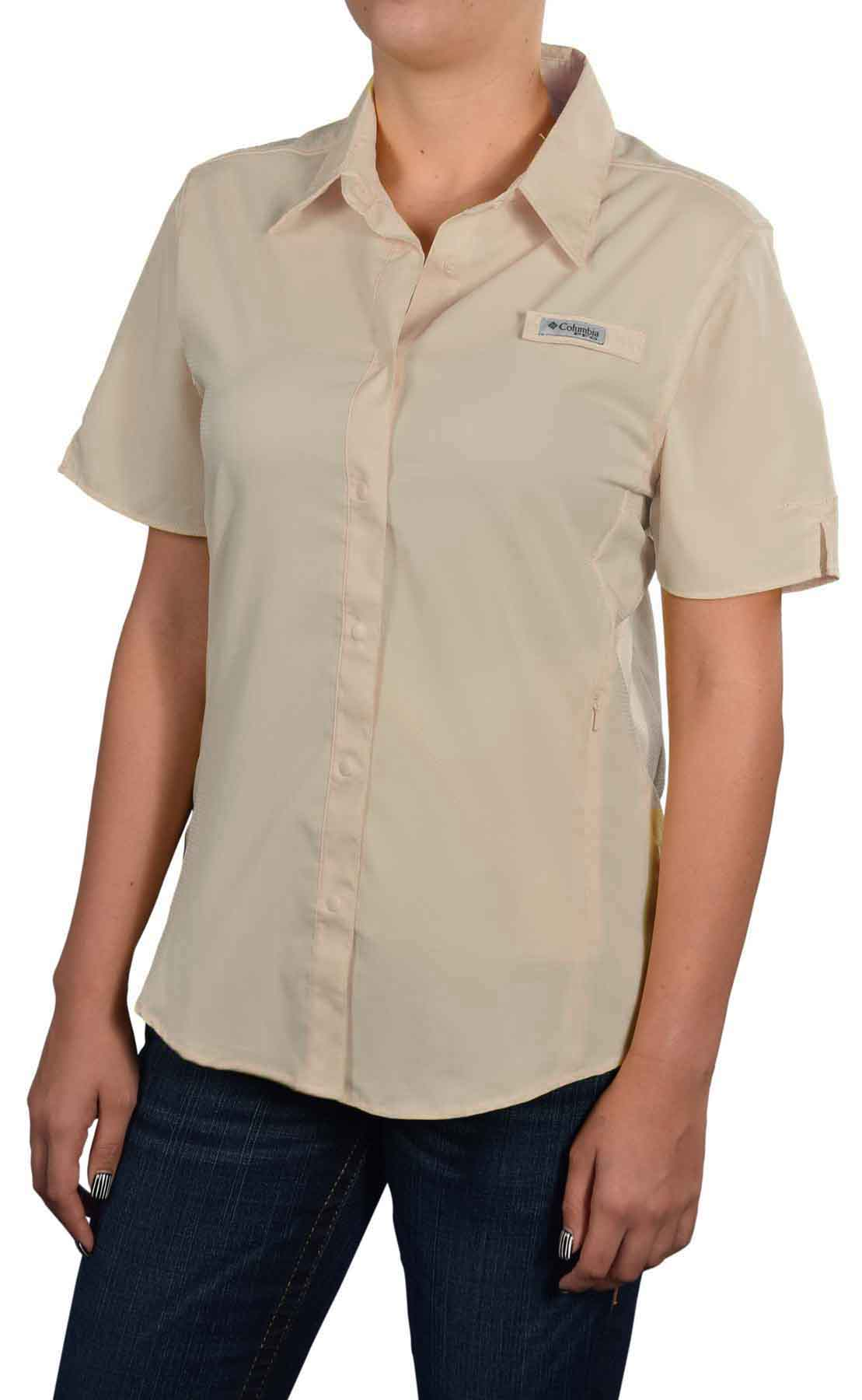 Columbia women 39 s crystal springs pfg short sleeve shirt ebay for What is a pfg shirt