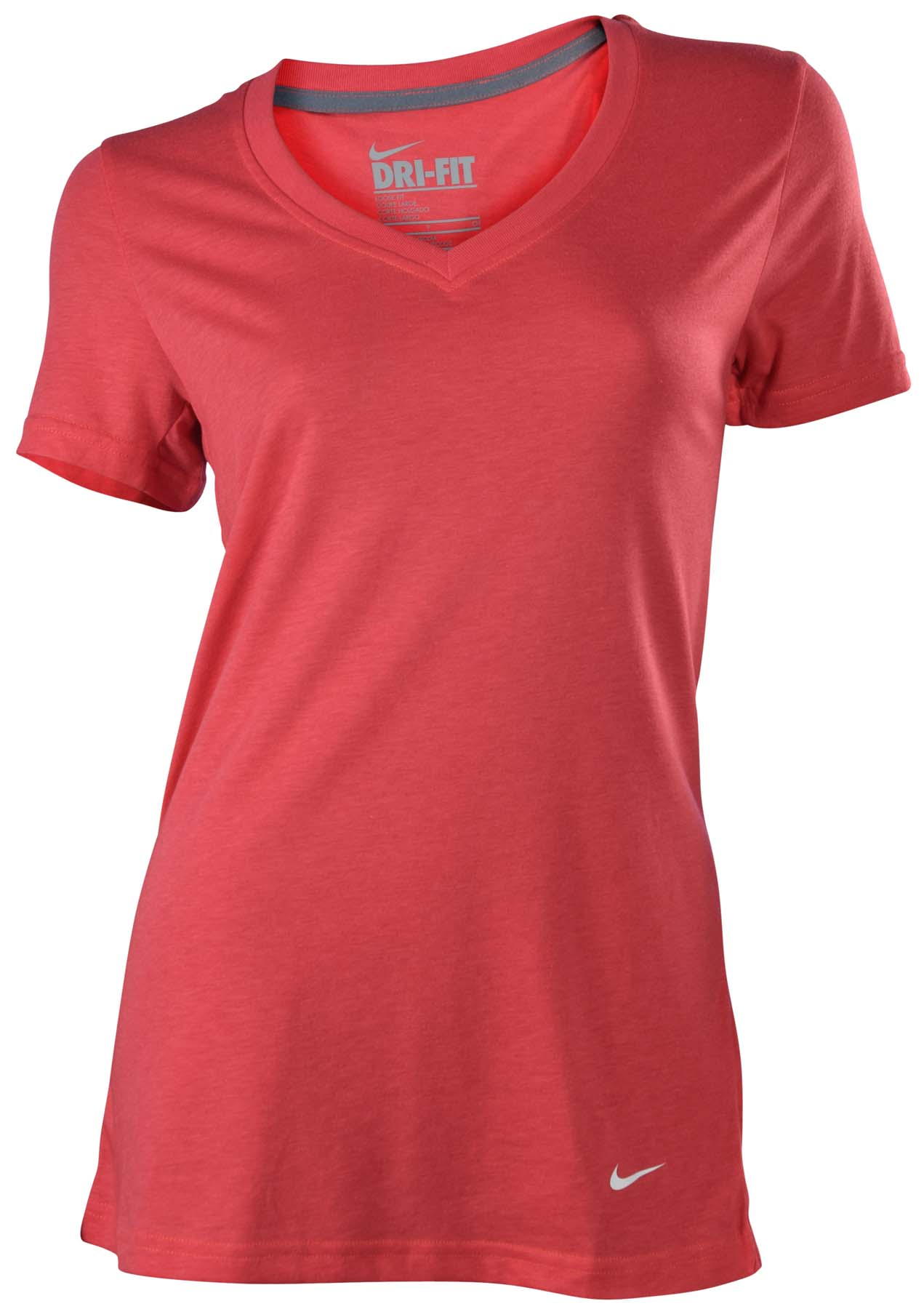 Nike women 39 s dri fit v neck training t shirt ebay for Nike dri fit t shirt ladies