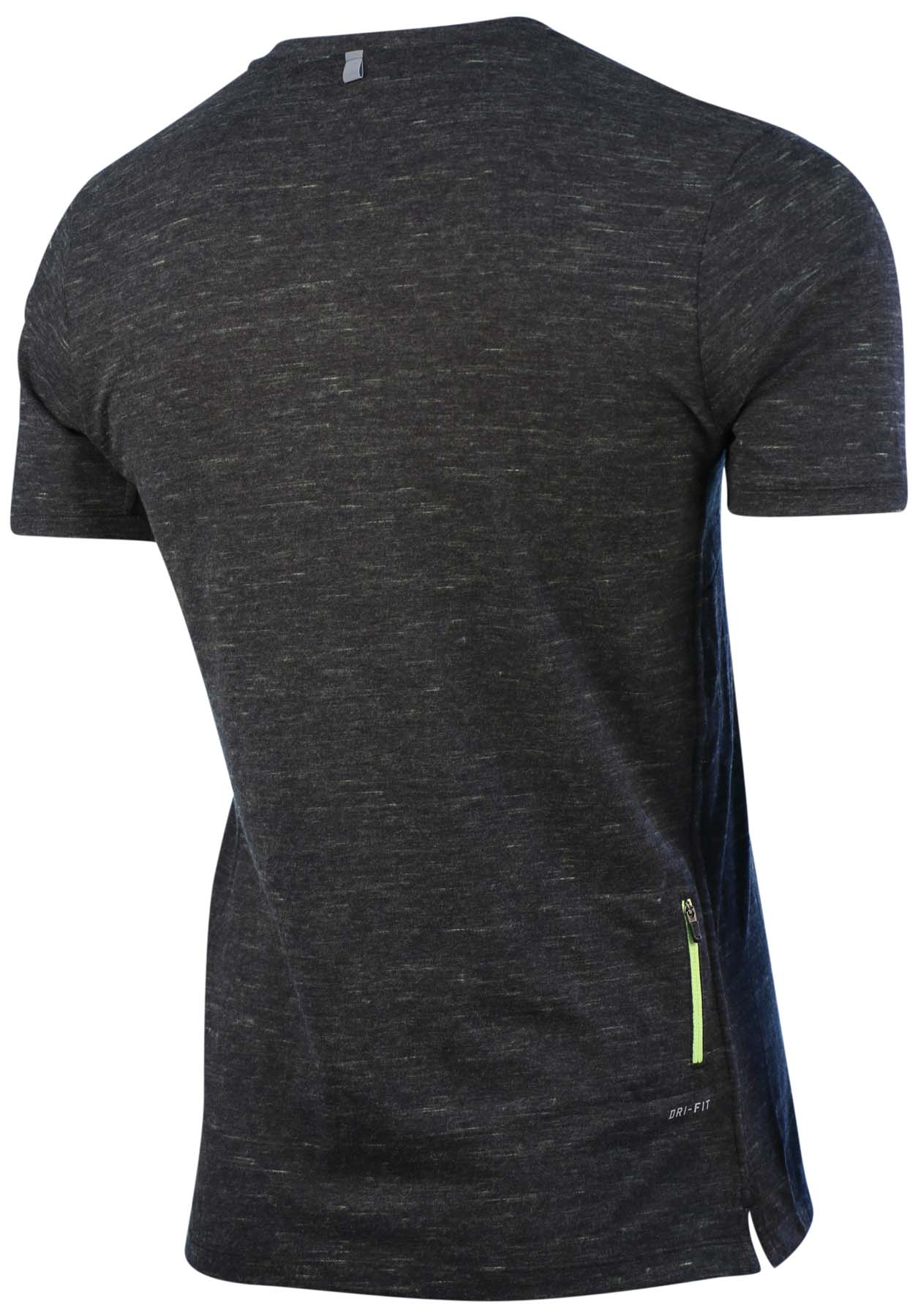 Nike men 39 s dri fit neon v neck running t shirt ebay for Dri fit t shirts nike