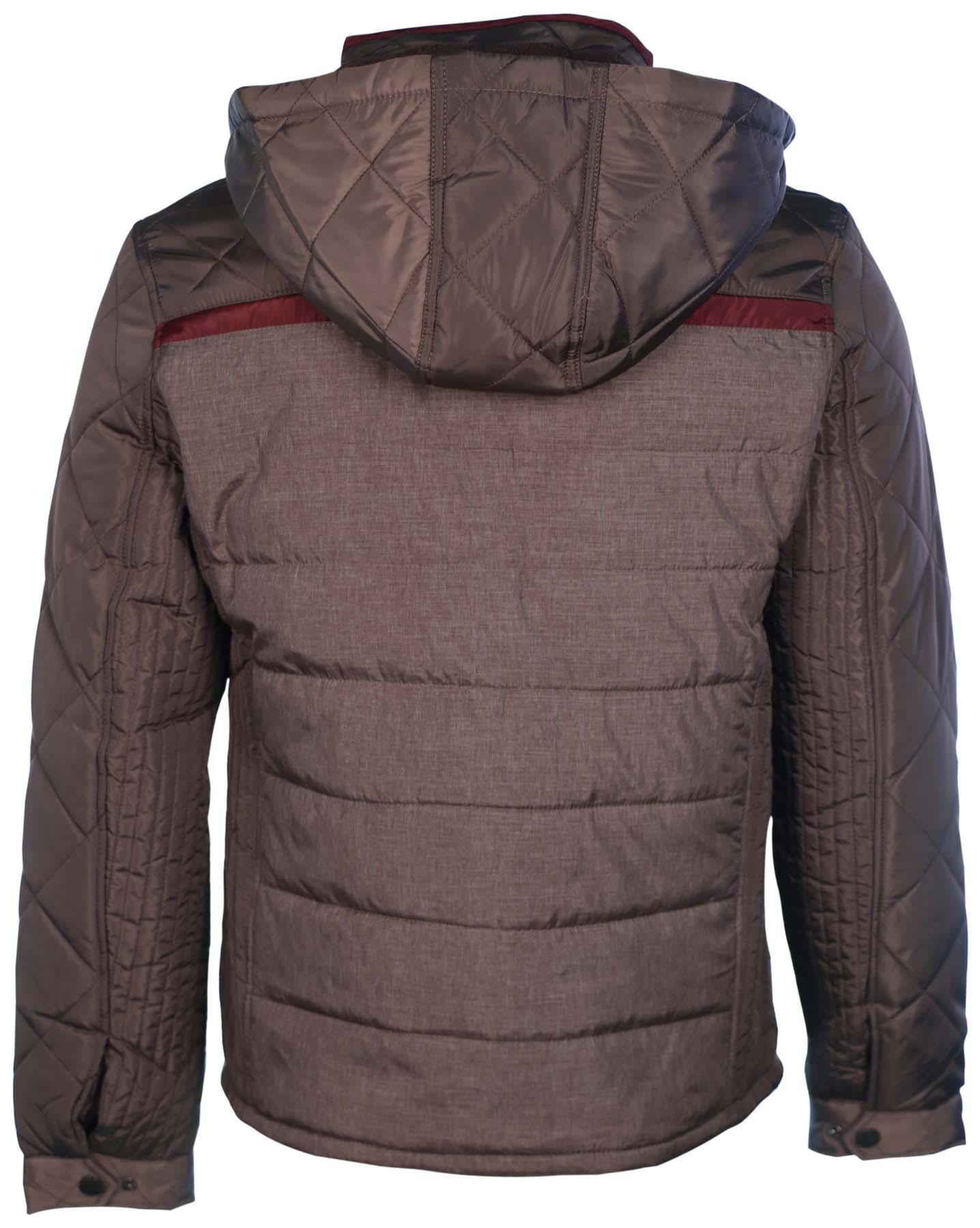 Holstark Men's Denver Zip And Button Hooded Jacket