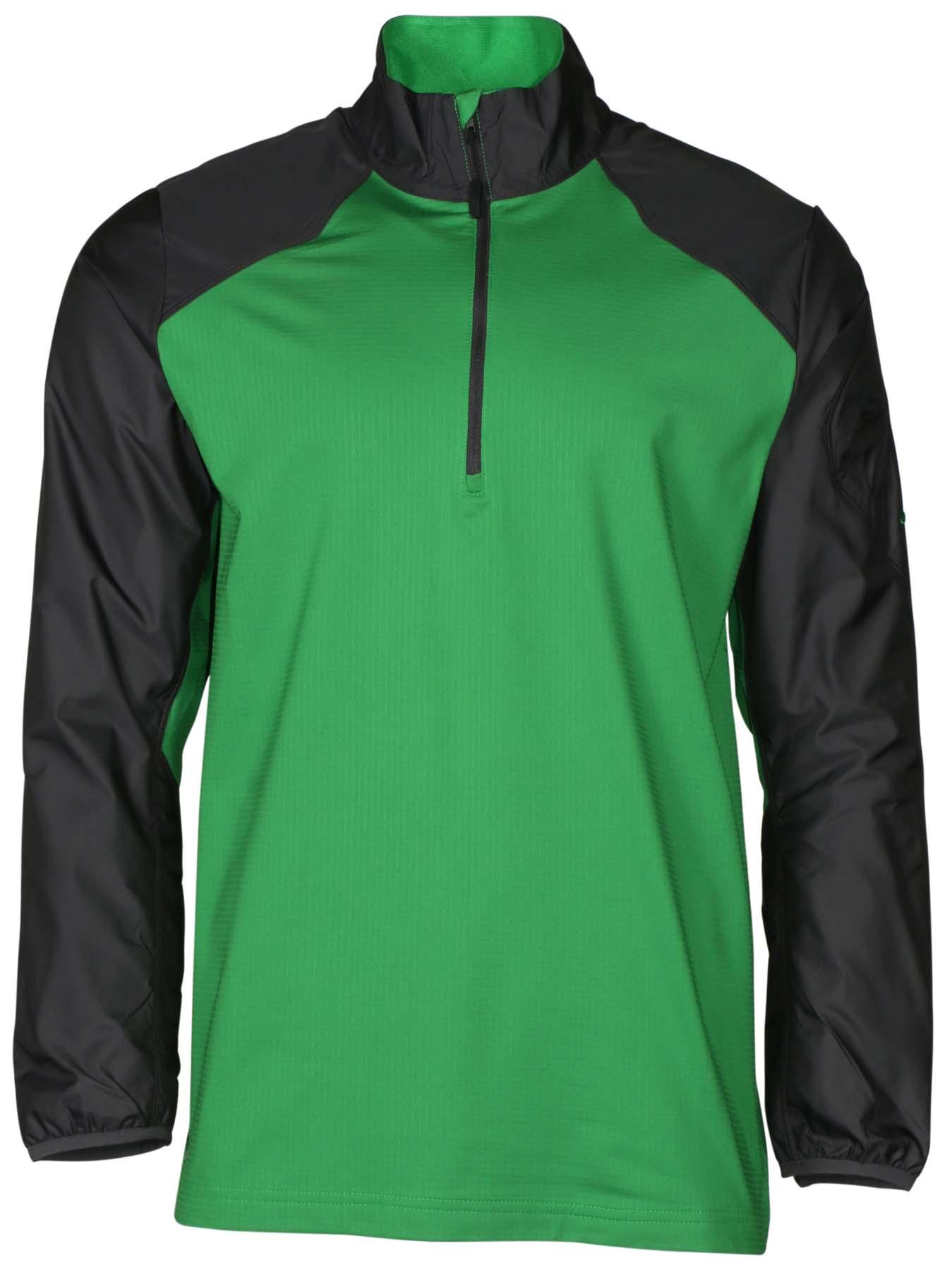 Nike men 39 s dri fit 1 2 zip hybrid mock neck football shirt for Mock crew neck shirts