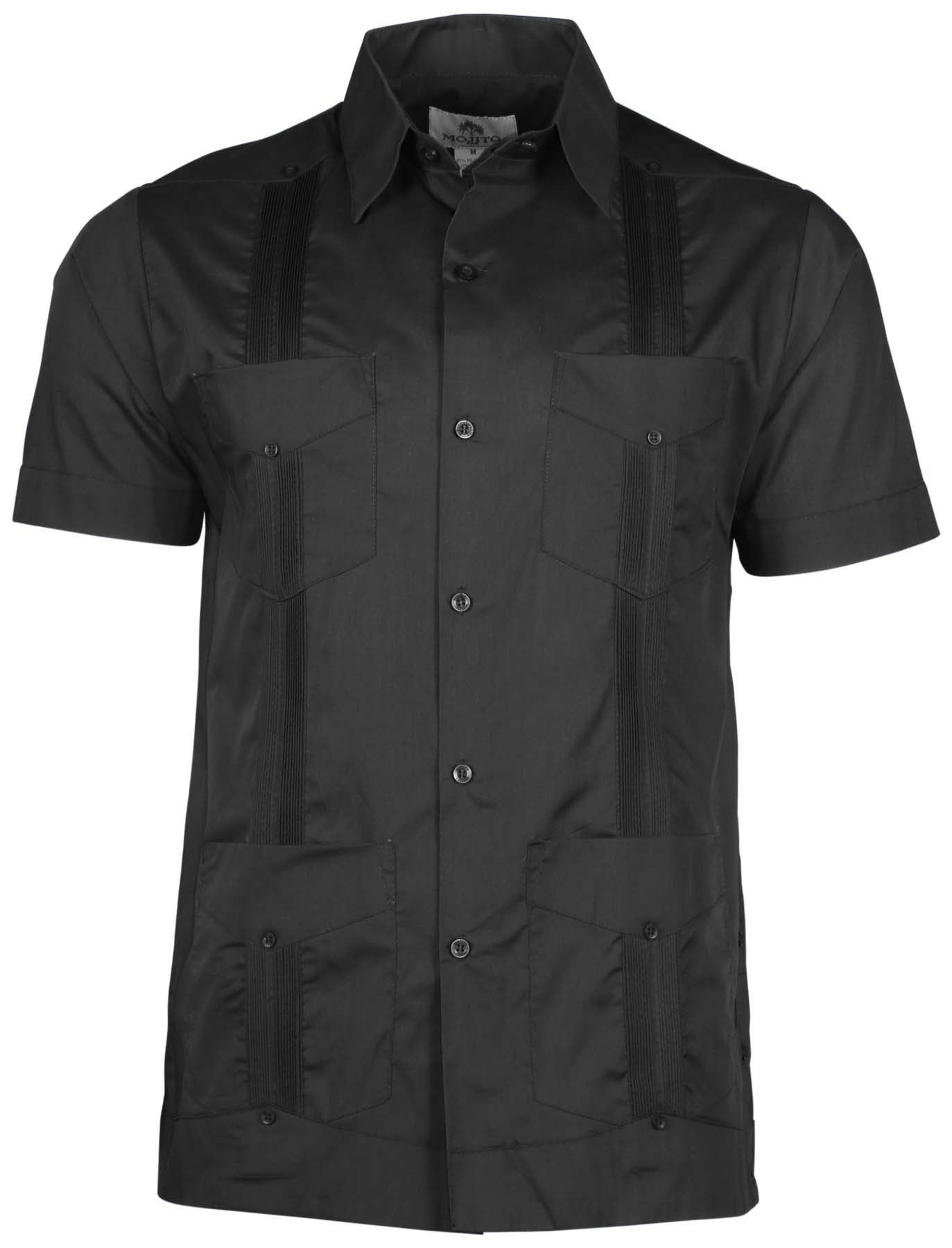 Mojito collection men 39 s big tall linen guayabera shirt for Men s big tall shirts