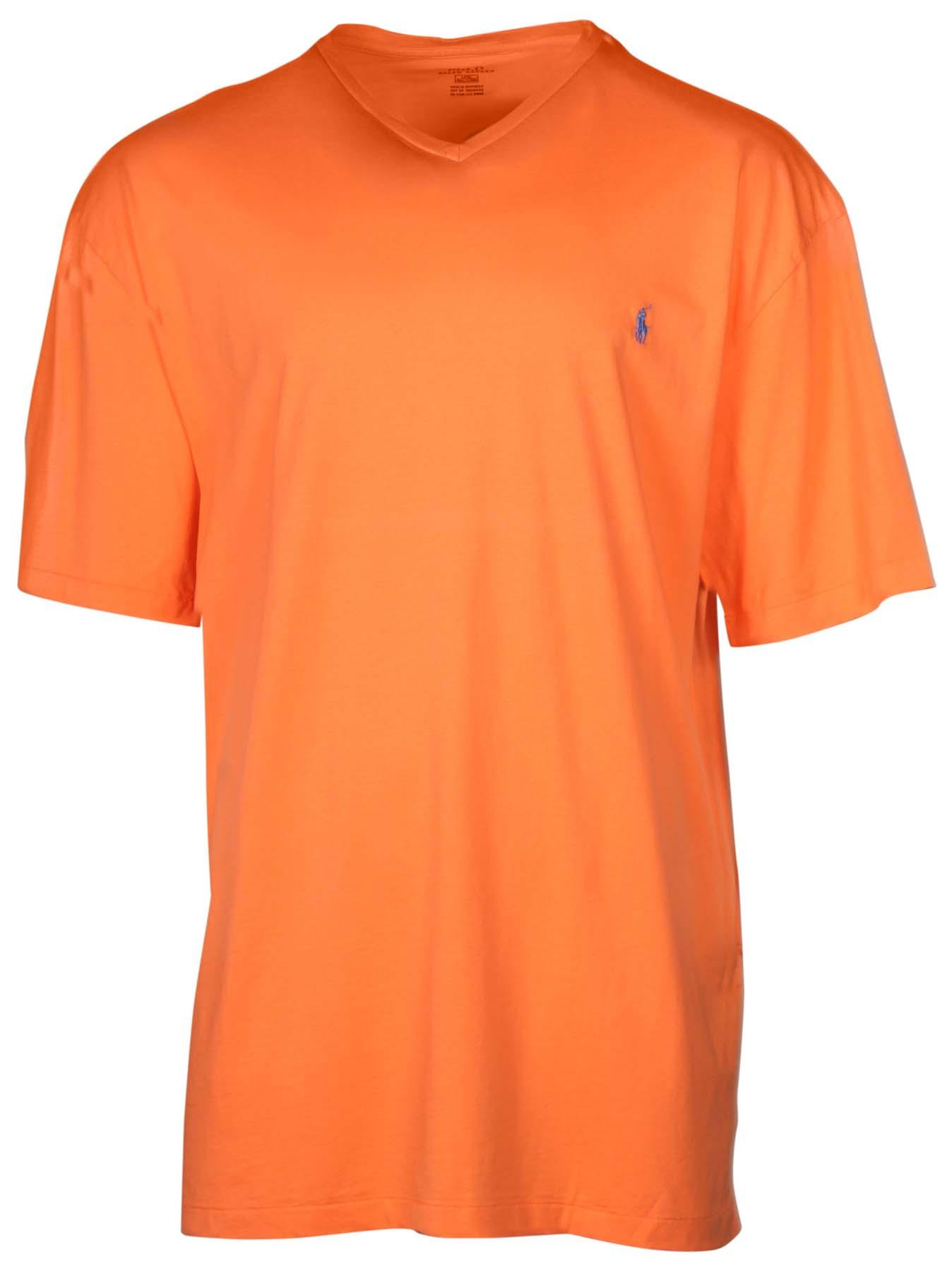 Polo ralph lauren men 39 s big tall v neck pony t shirt ebay for Mens tall v neck t shirts