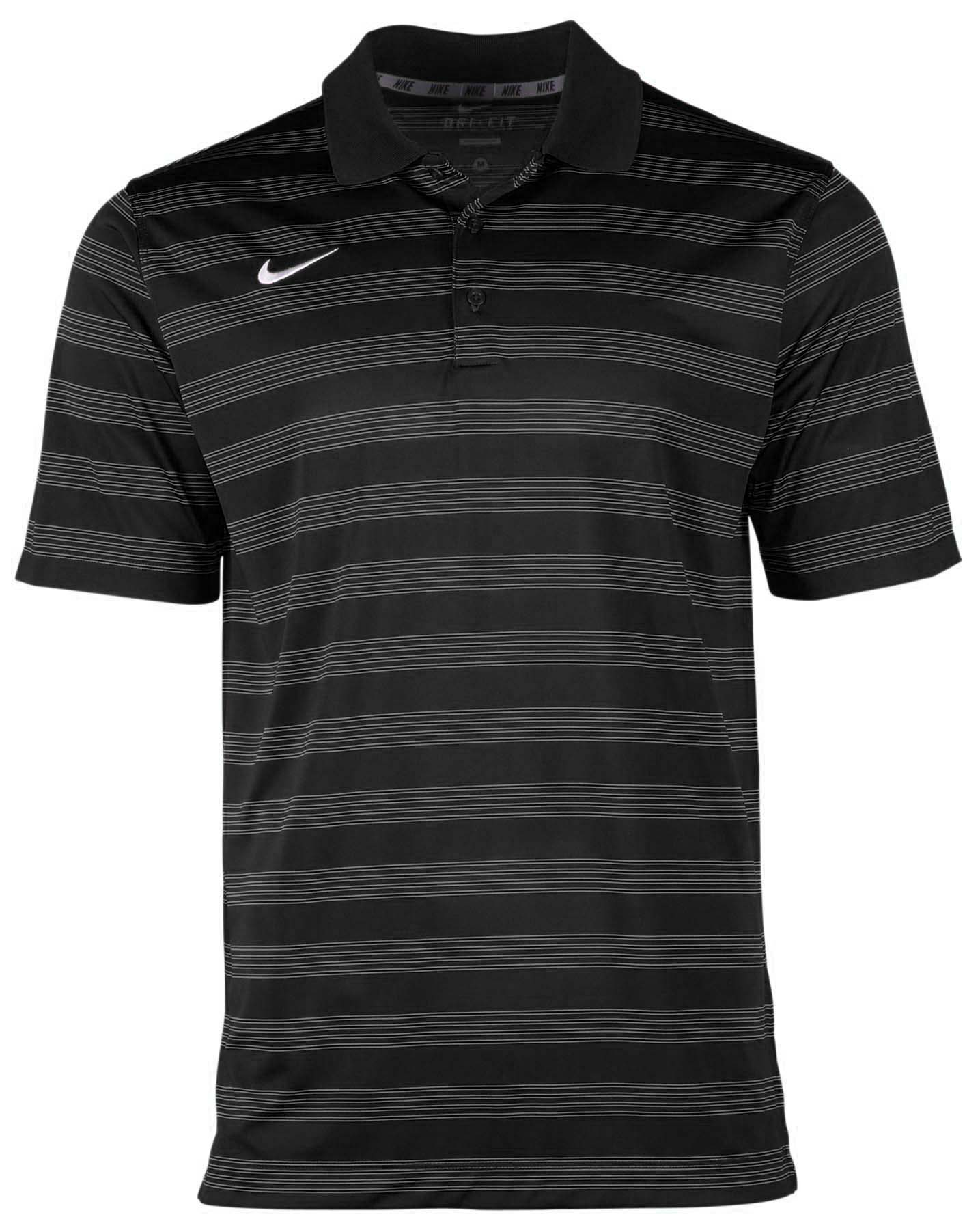 Nike Men s Dri Fit Game Time Striped Football Polo Shirt